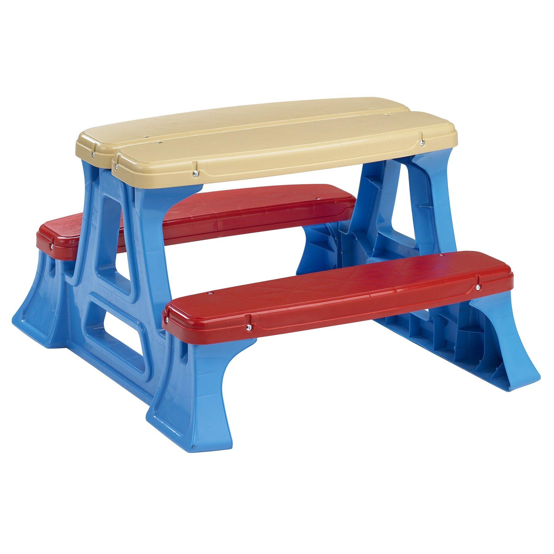 American Plastic Toys Kids Picnic Table & Reviews | Wayfair