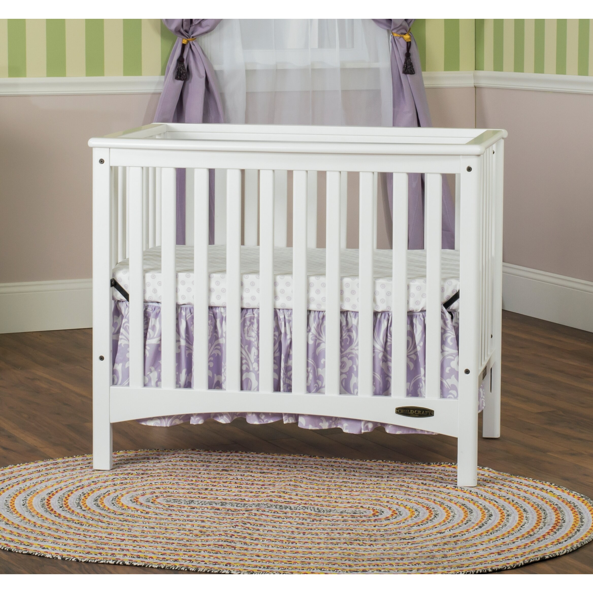 child craft london euro mini convertible crib with