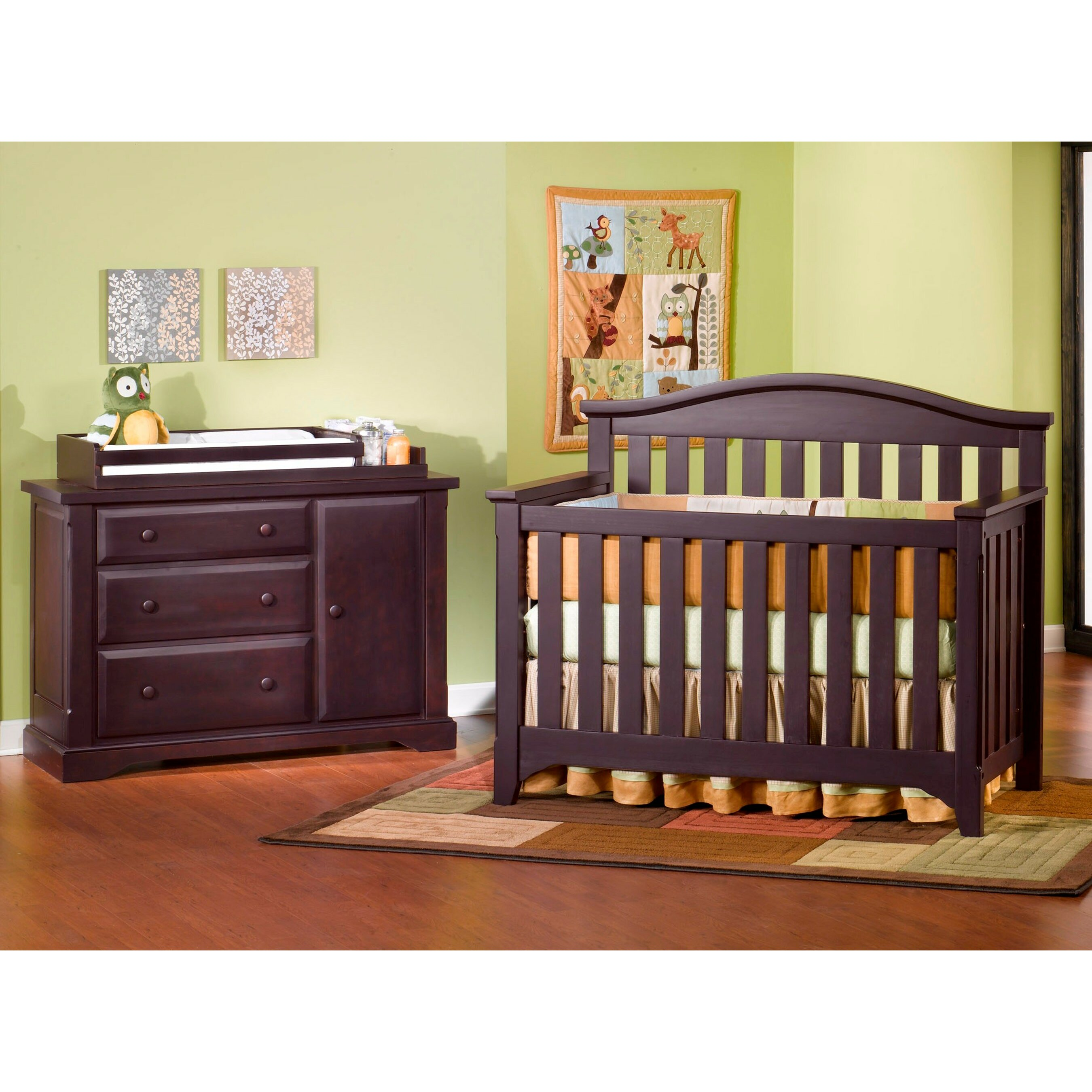 Child Craft Hawthorne Nursery 3 Piece Convertible Crib Set