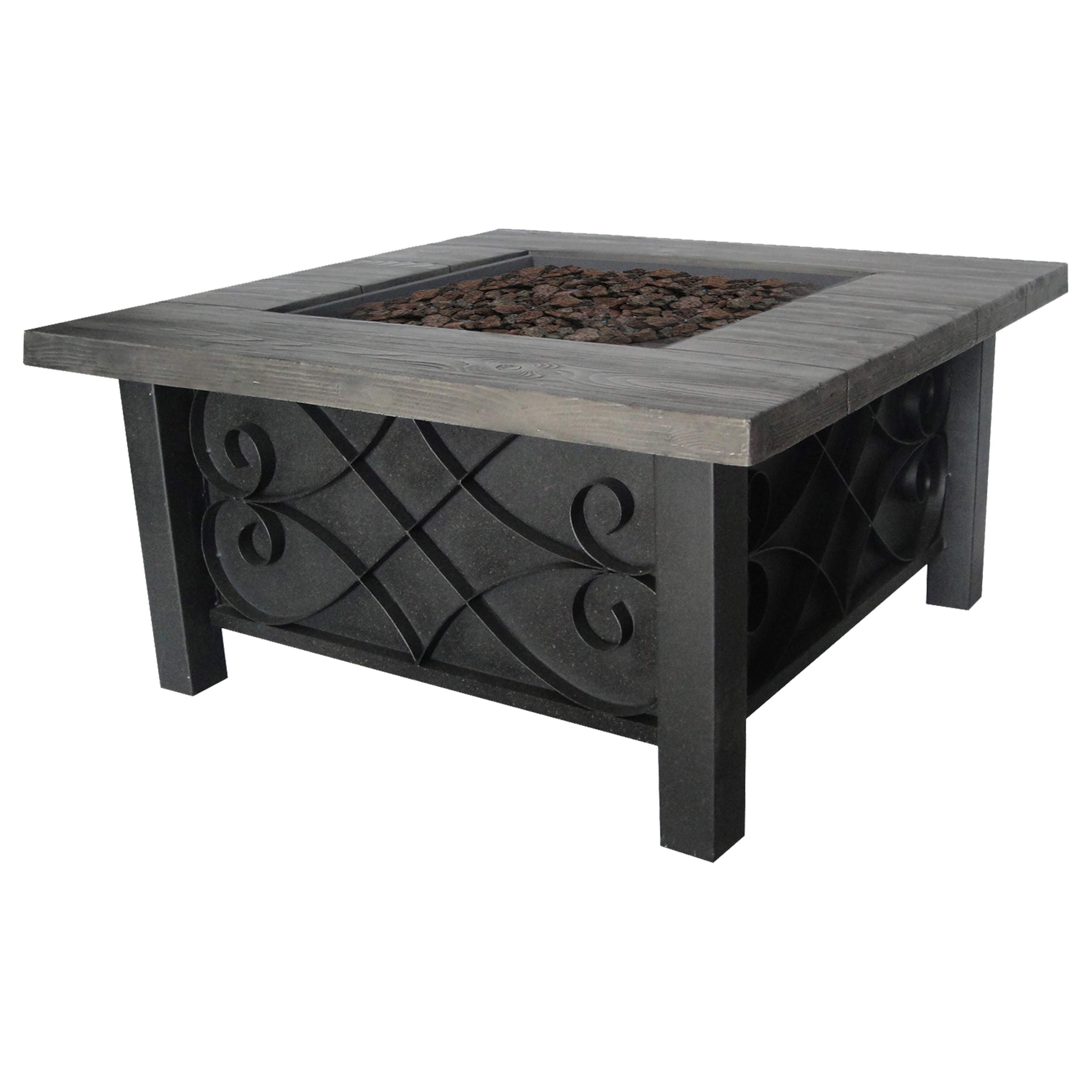 Bond Marbella Steel Gas Outdoor Table Top Fireplace