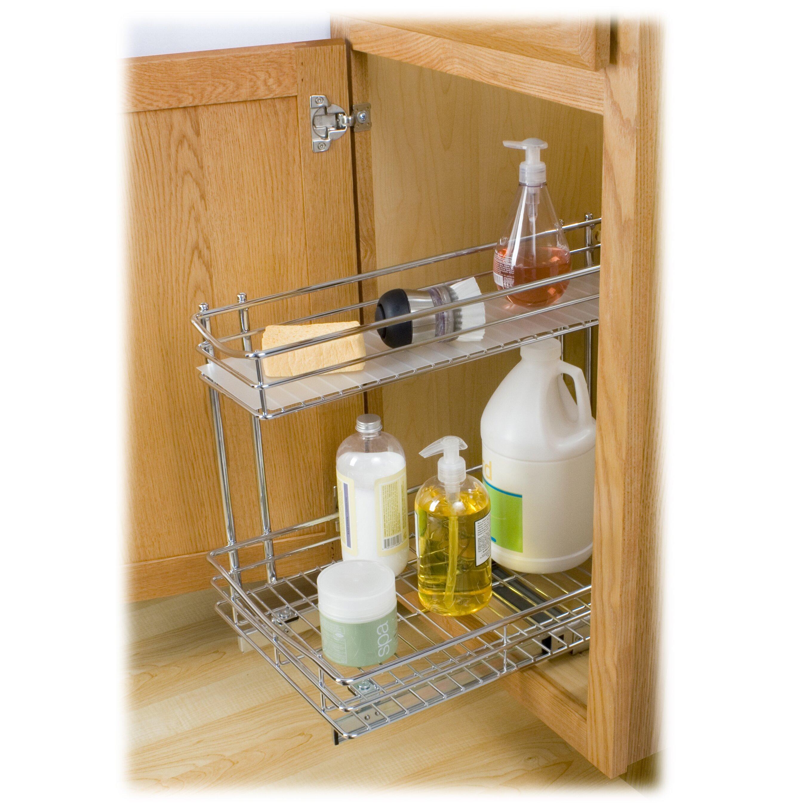 New Cabinet Organizer Sliding Kitchen Under Storage Drawer: Lynk Lynk Professional Roll Out Under Sink Cabinet