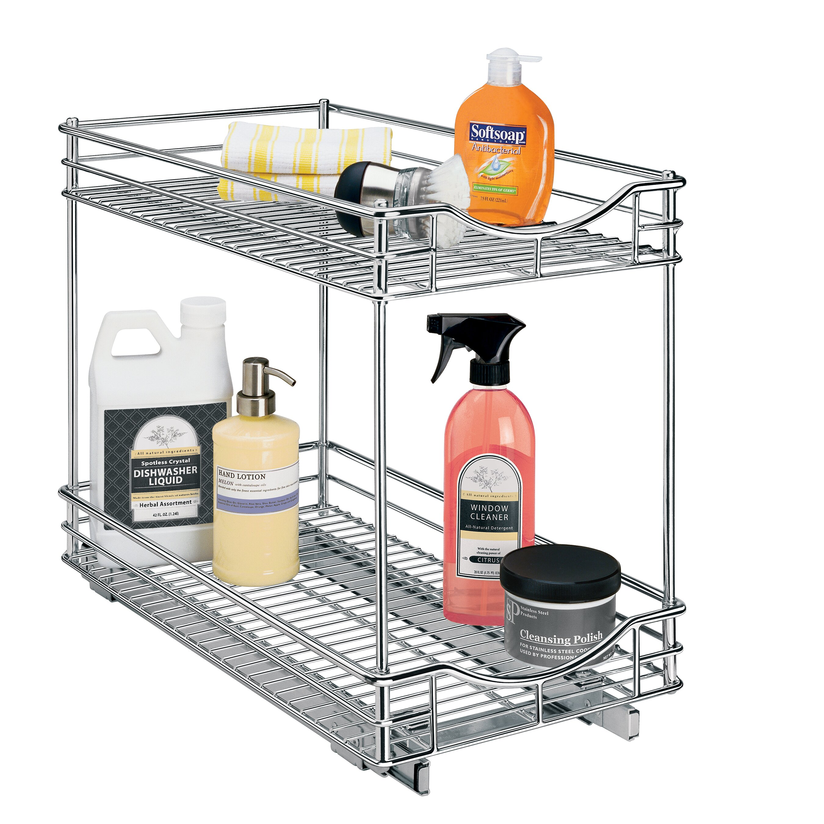 Lynk Roll Out Cabinet Organizer: Lynk Roll Out Double Shelf