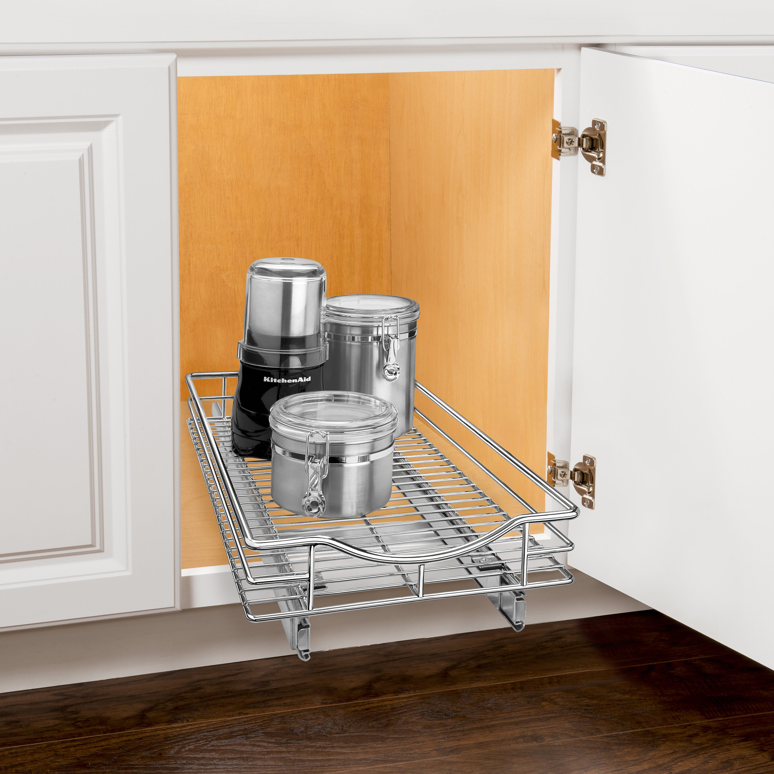 Pull Out Kitchen Cabinet Organizers: Lynk Lynk Professional Roll Out Cabinet Organizer