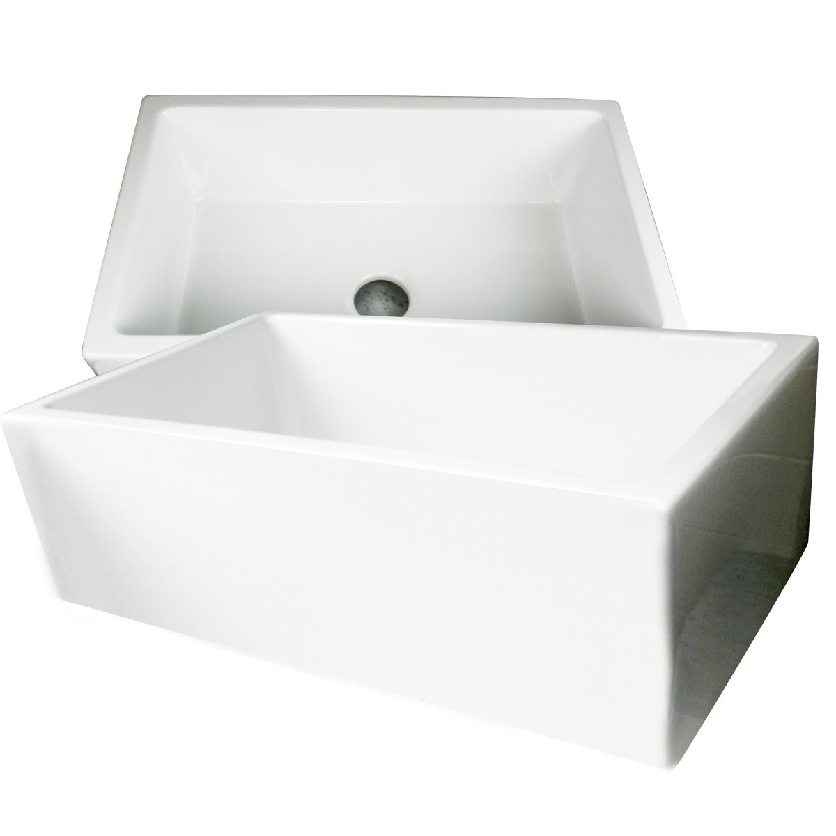 "Nantucket Sinks Hyannis 30"" x 18"" Italian Farmhouse Fireclay Sink &"