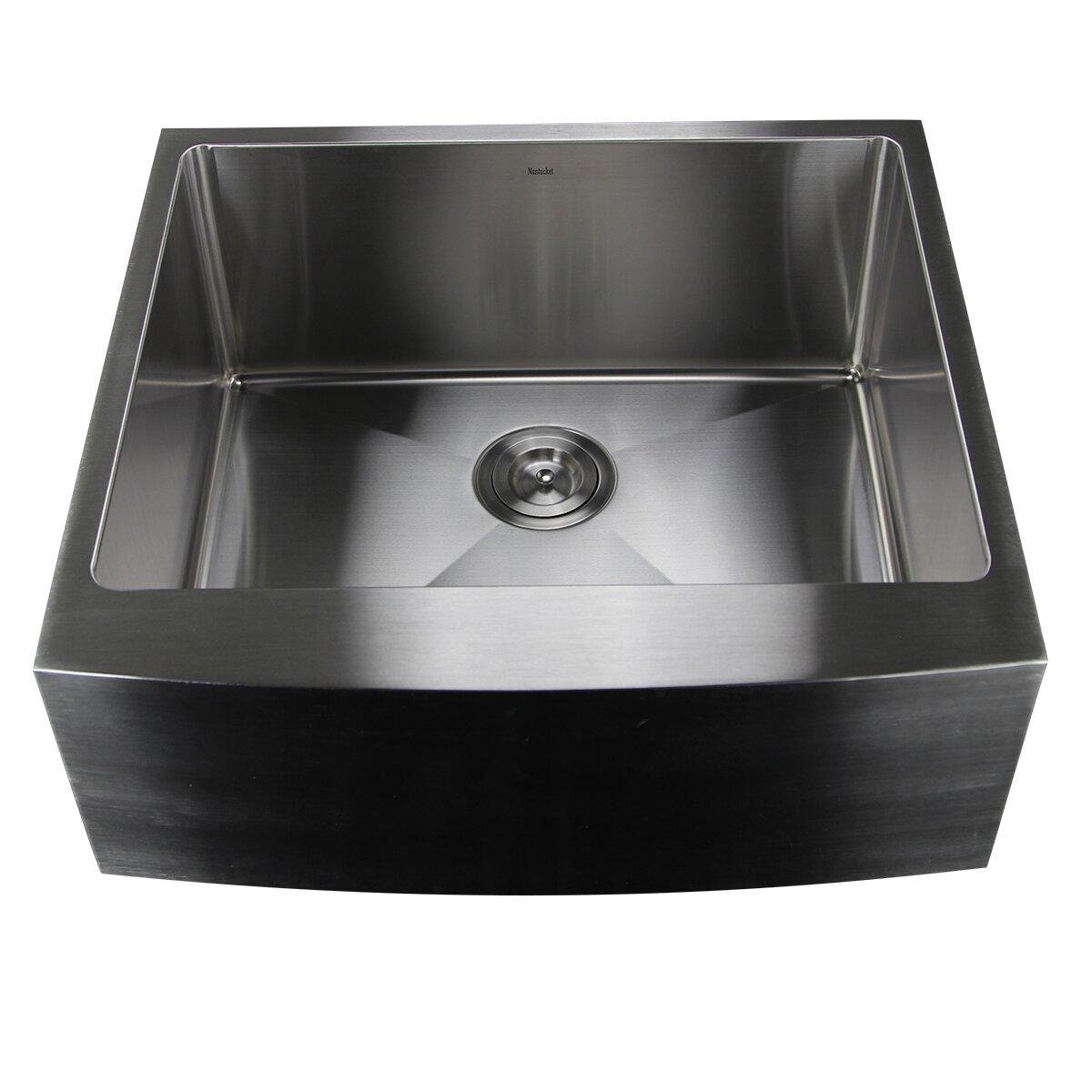 24 Apron Front Sink : Kitchen Sinks Nantucket Sinks Part #: Apron2420-SR-16 SKU: NSK1193