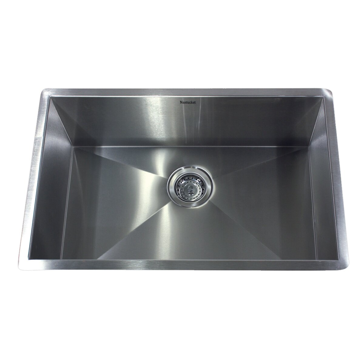 "Nantucket Sinks 28"" x 18"" Zero Radius Single Bowl"
