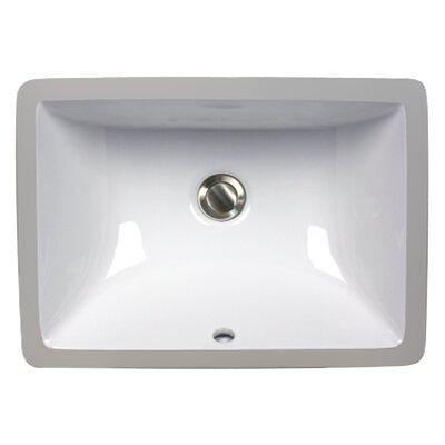 Nantucket Sinks Rectangular Ceramic Undermount Bathroom