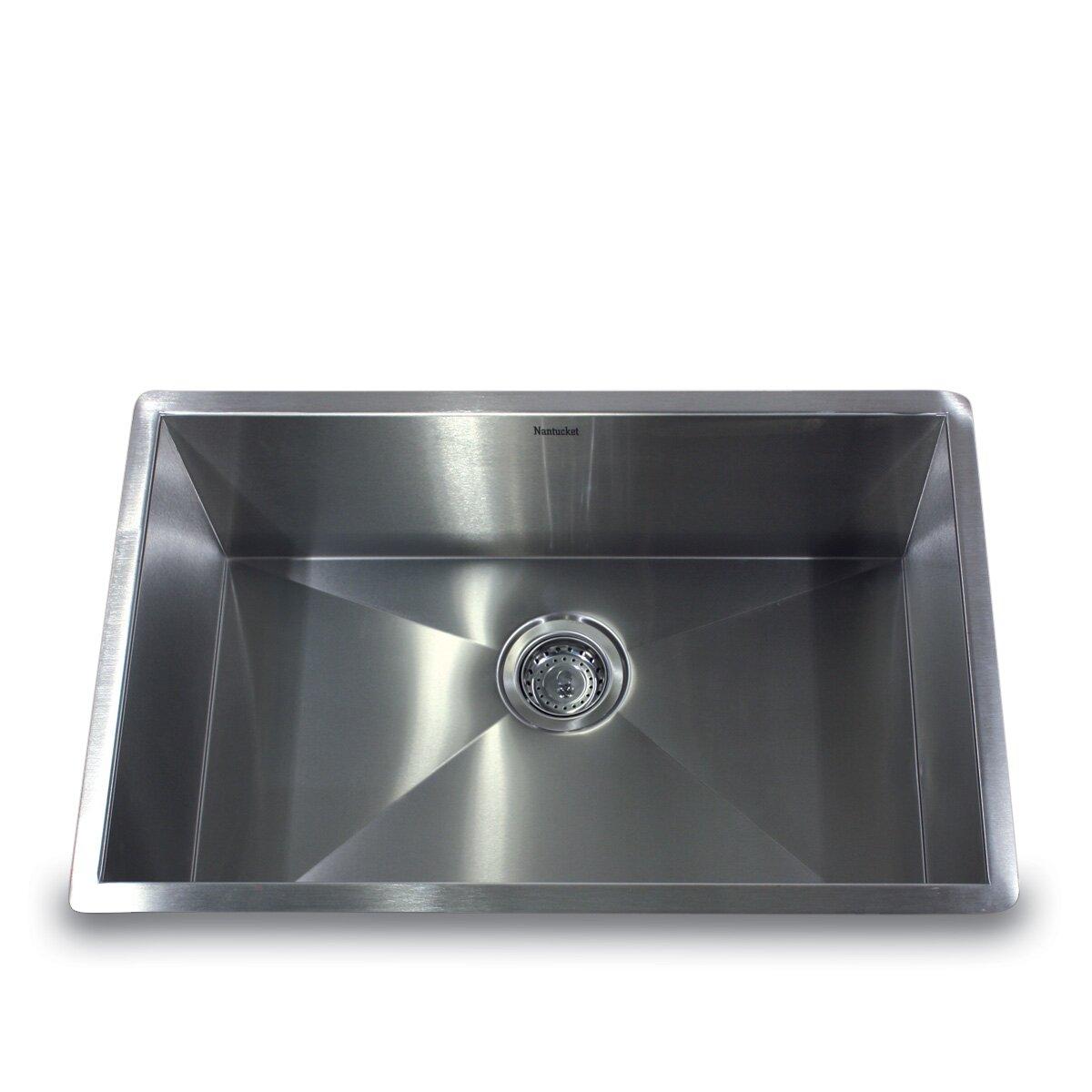 """Nantucket Sinks 28"""" X 18"""" Zero Radius Large Single Bowl"""