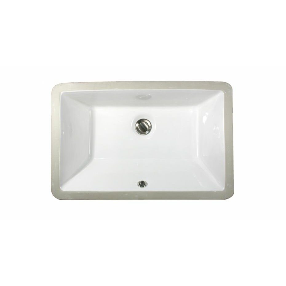 Nantucket sinks rectangular ceramic undermount bathroom for Bathroom undermount sinks