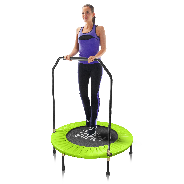 "Pure Fitness 40"" Mini Trampoline With Handrail"