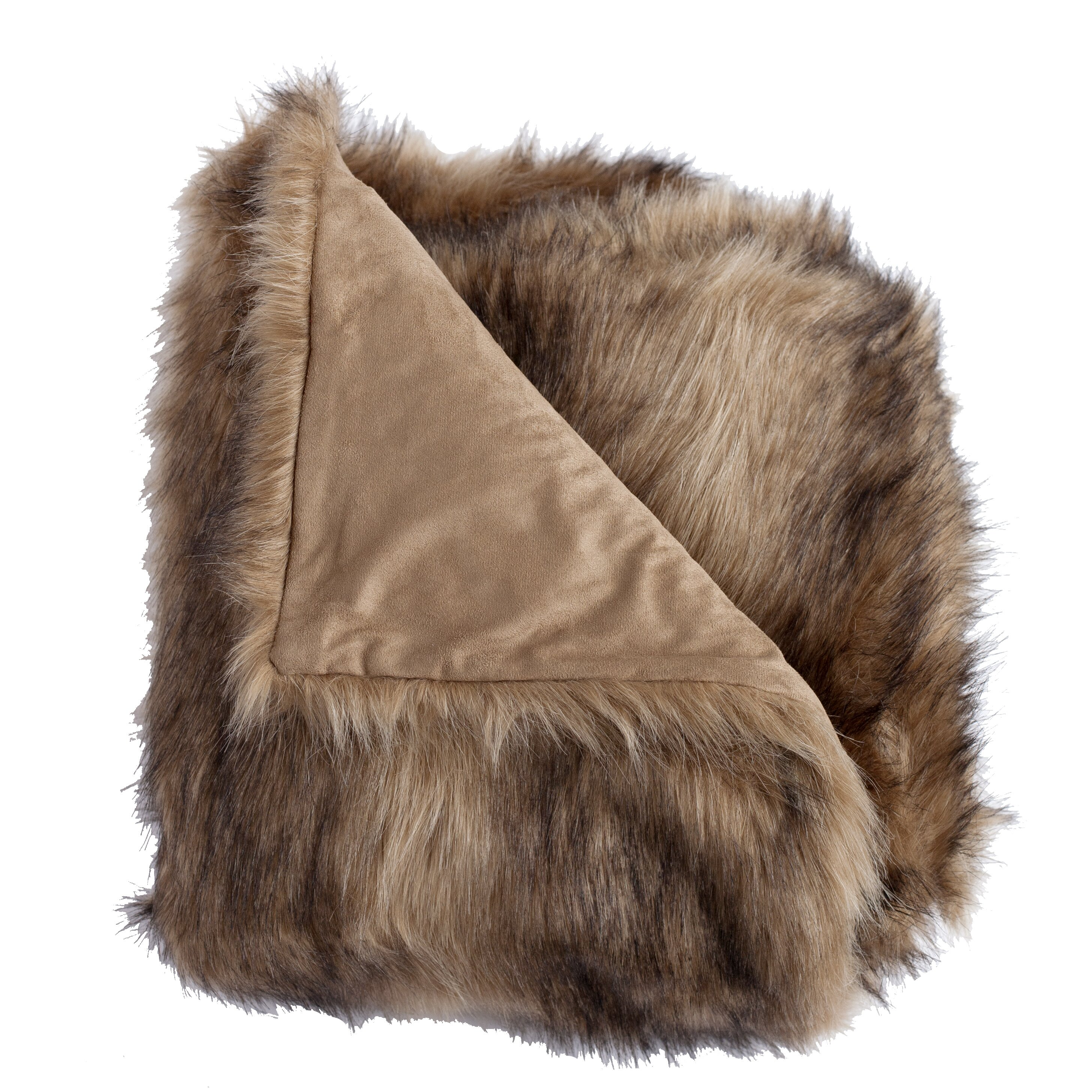 Wovenworkz Ibex Faux Fur Throw Blanket Amp Reviews Wayfair