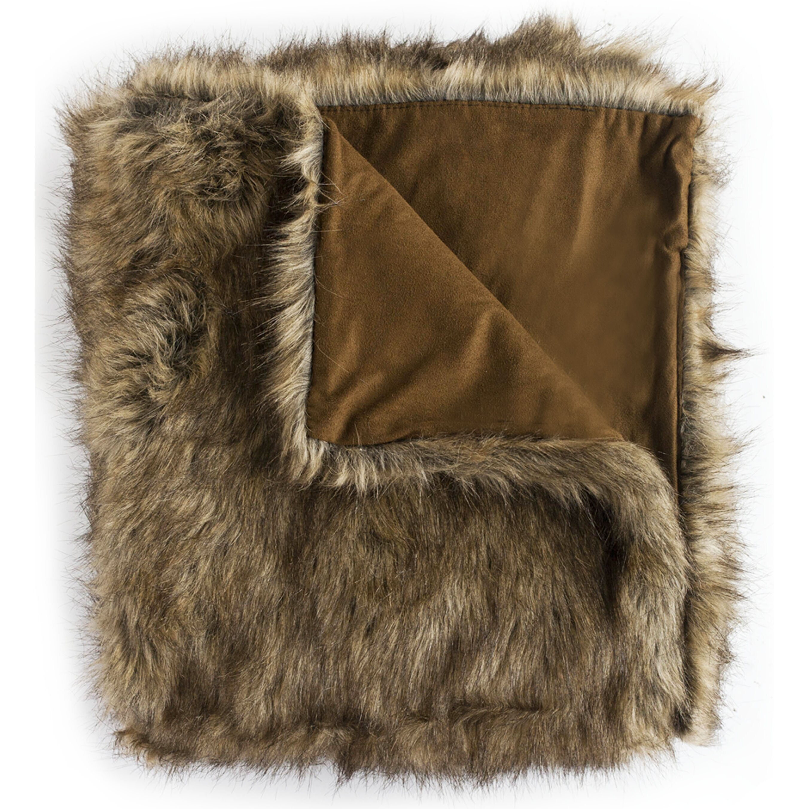 Wovenworkz Wolf Faux Fur Throw Blanket Wayfair