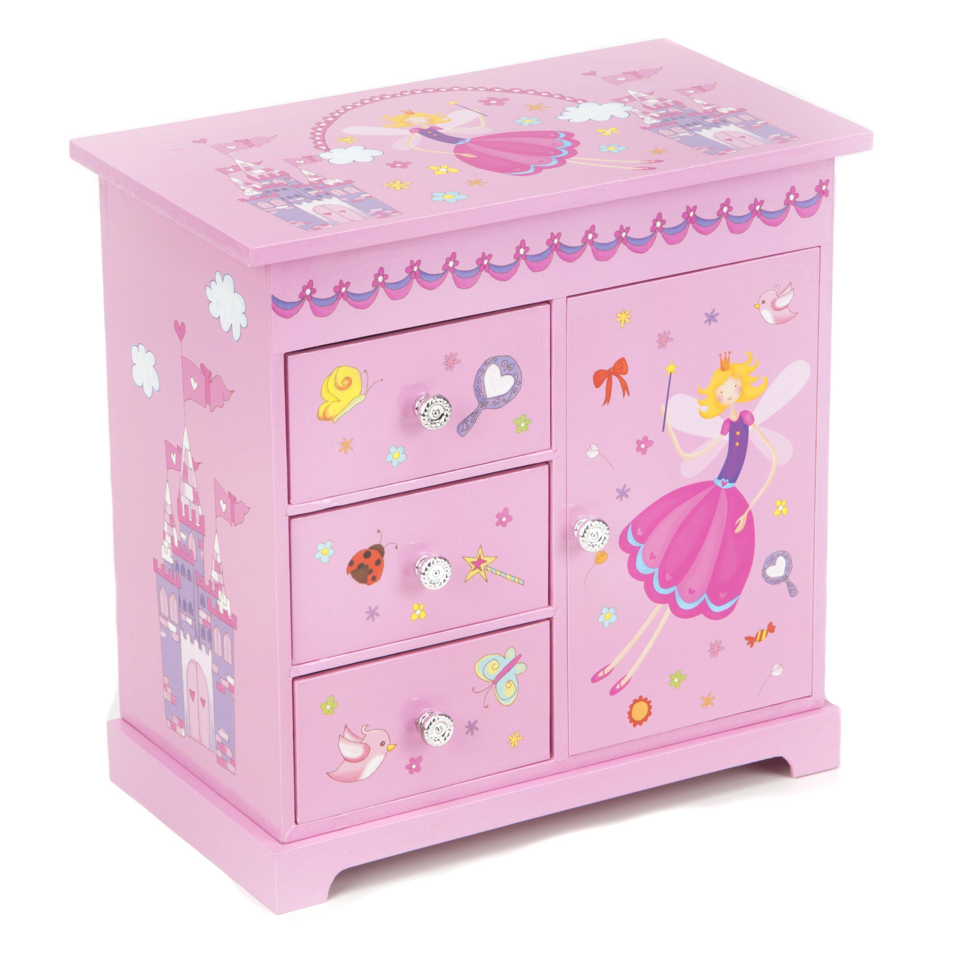zoomie musical ballerina jewelry box reviews wayfair