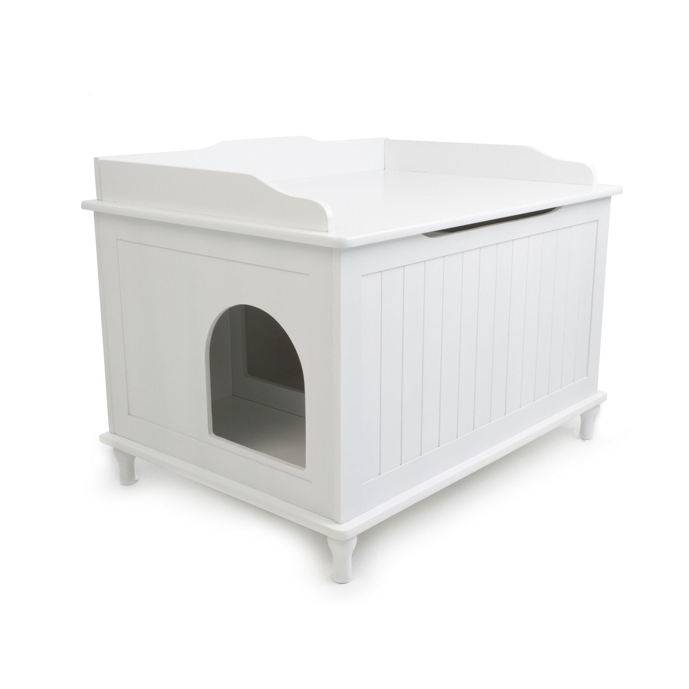 designer pet products mia litter box enclosure arena kitty litter box