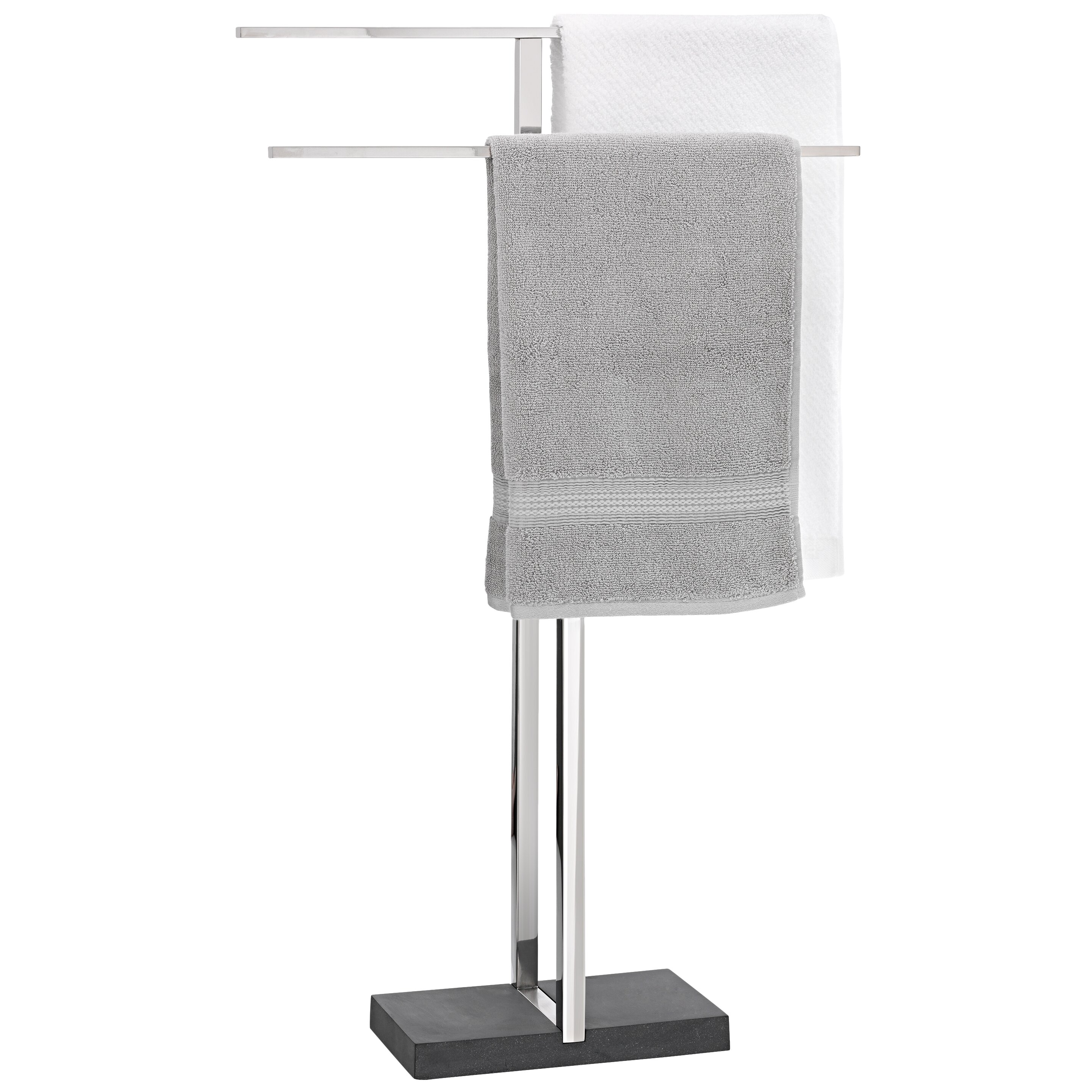 Blomus menoto freestanding stainless steel polished towel for Free standing