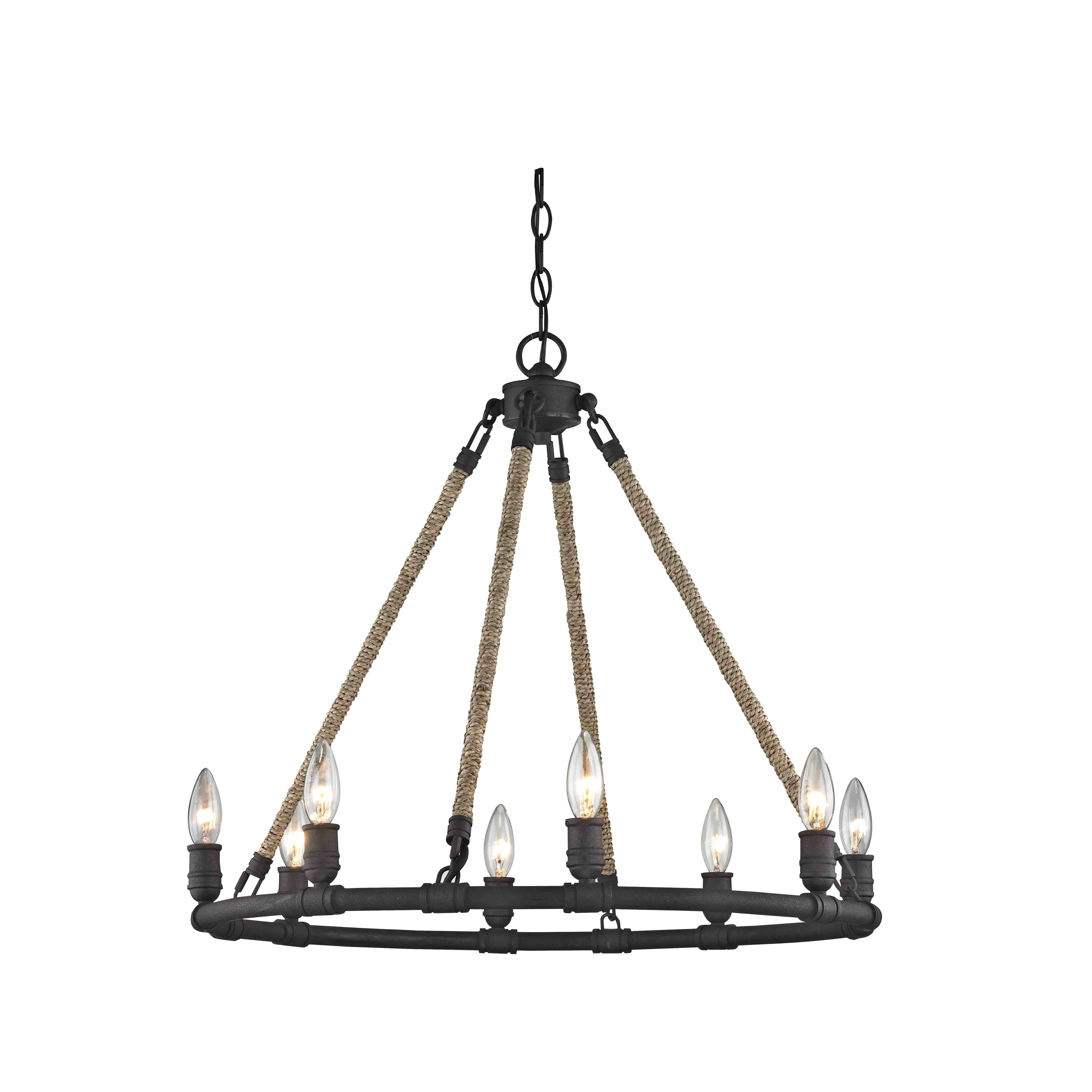 Breakwater Bay Martin 8 Light Candle Style Chandelier Reviews Wayfair