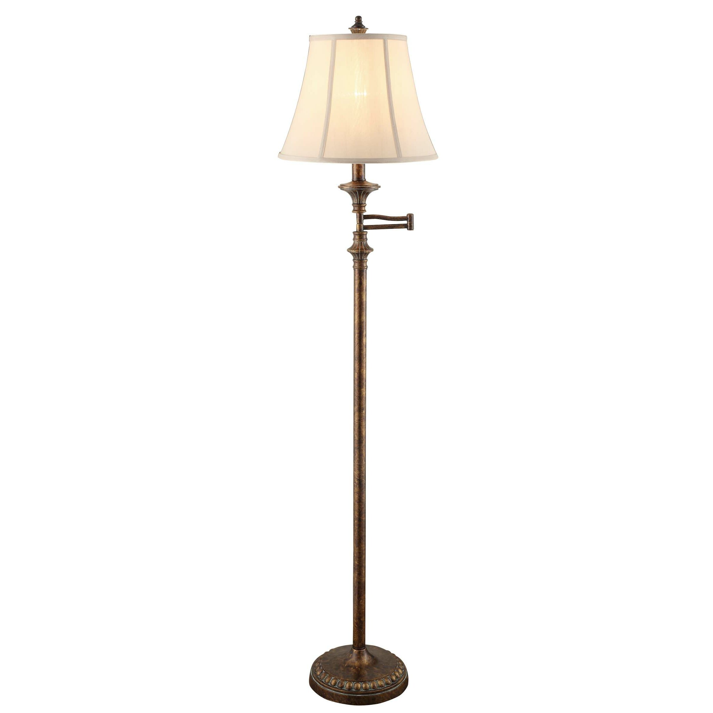 "Crestview Barton Swing Arm 61.5"" Task Floor Lamp & Reviews"