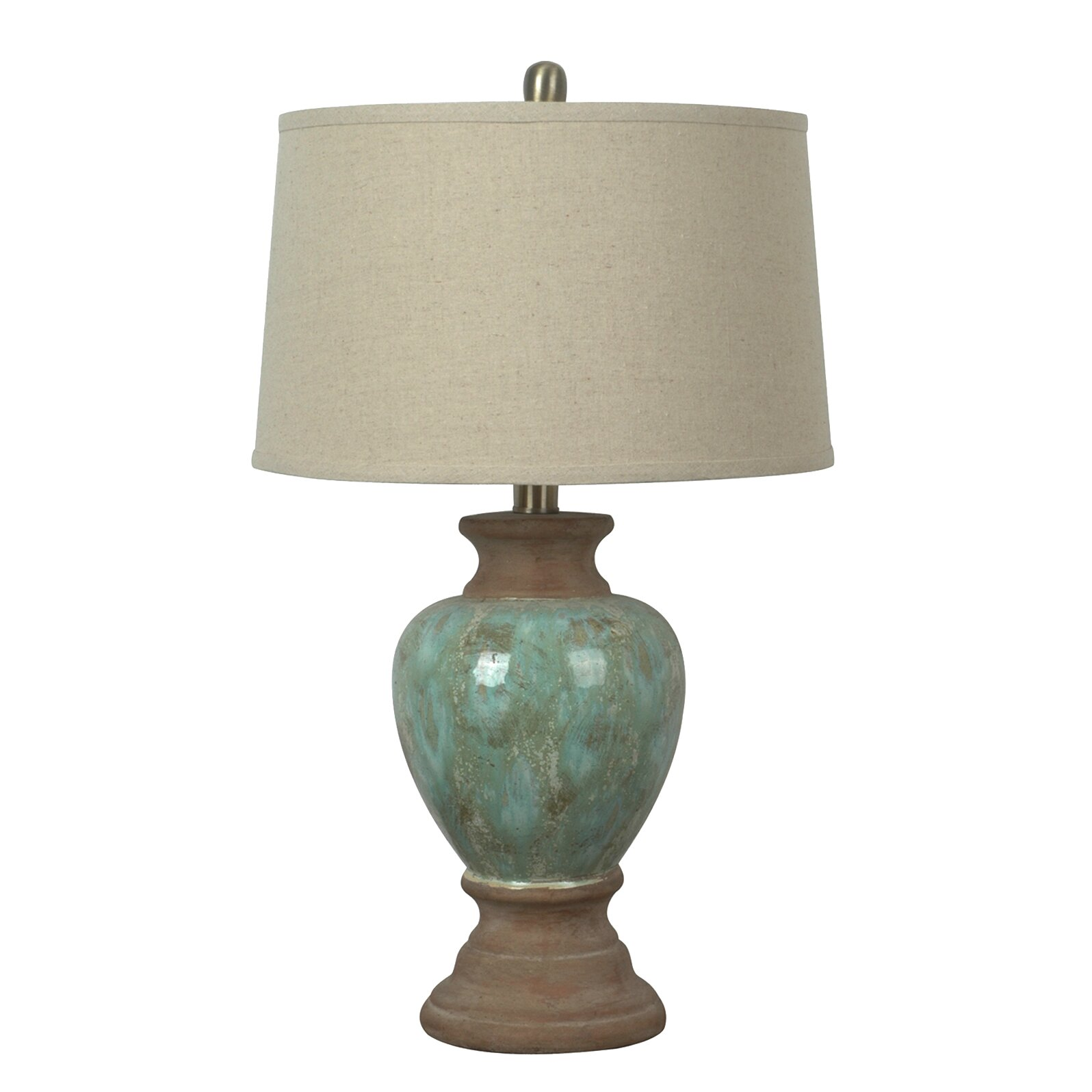 crestview leona table lamp reviews wayfair. Black Bedroom Furniture Sets. Home Design Ideas