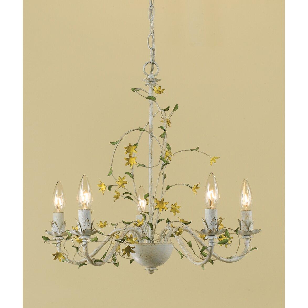 Af lighting star flower 5 light chandelier reviews wayfair for Light up flower lamp