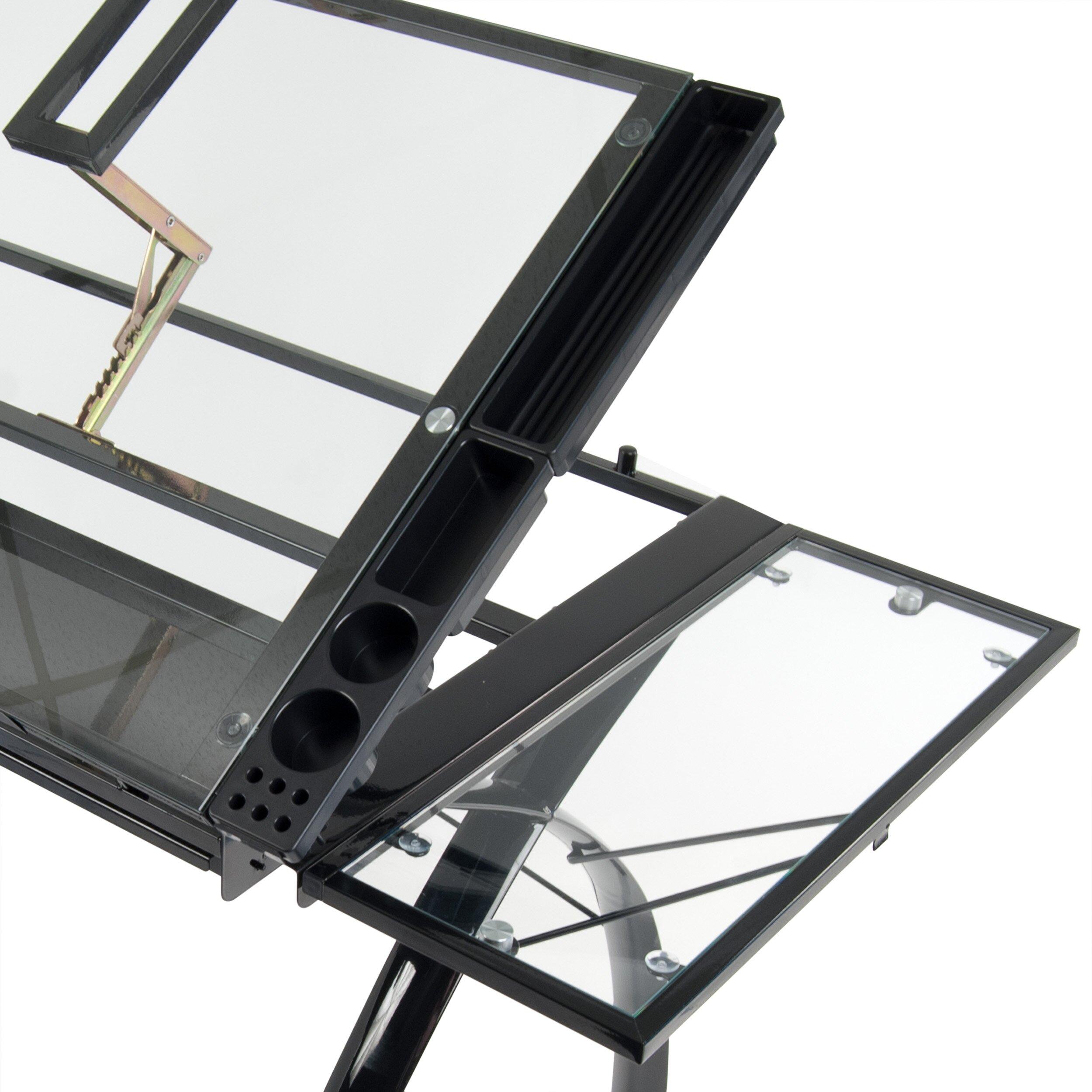 Studio designs futura glass craft station reviews wayfair for Studio designs craft station