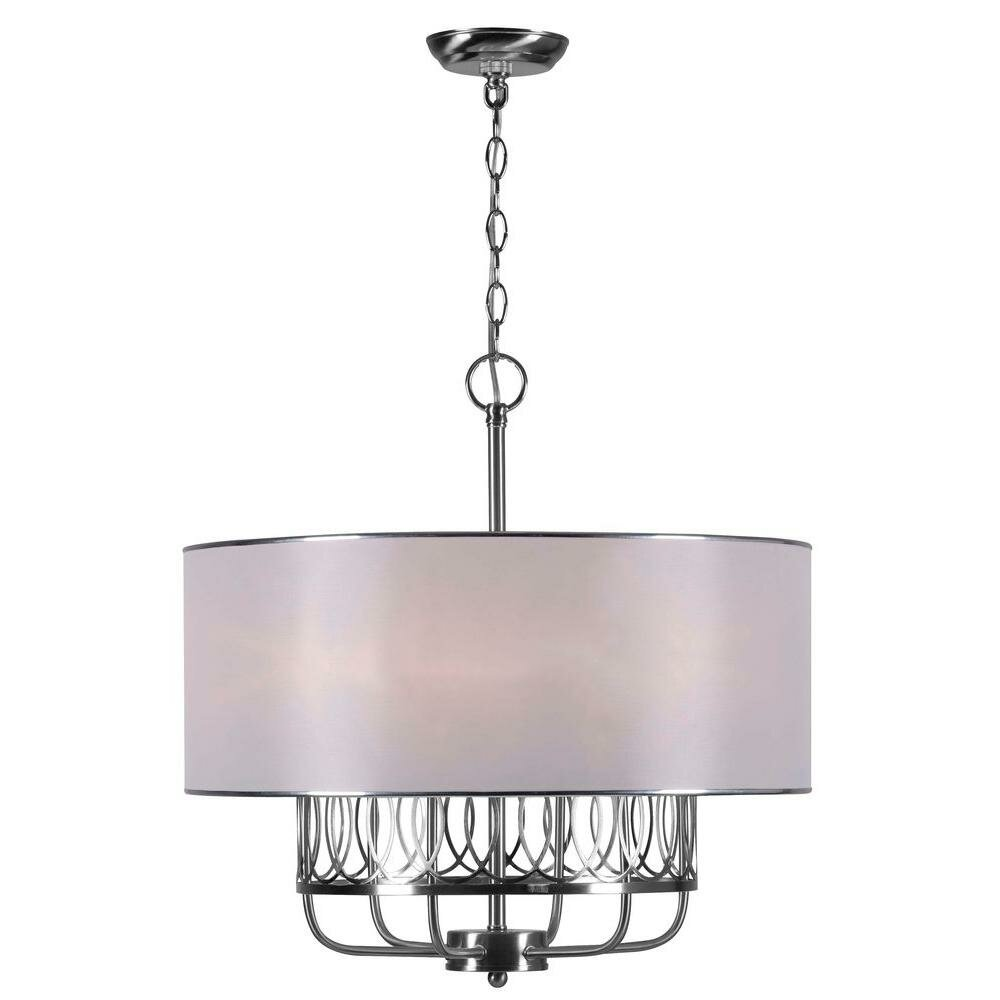 world imports venn 6 light drum chandelier chandeliers pendants wayfair drum lighting