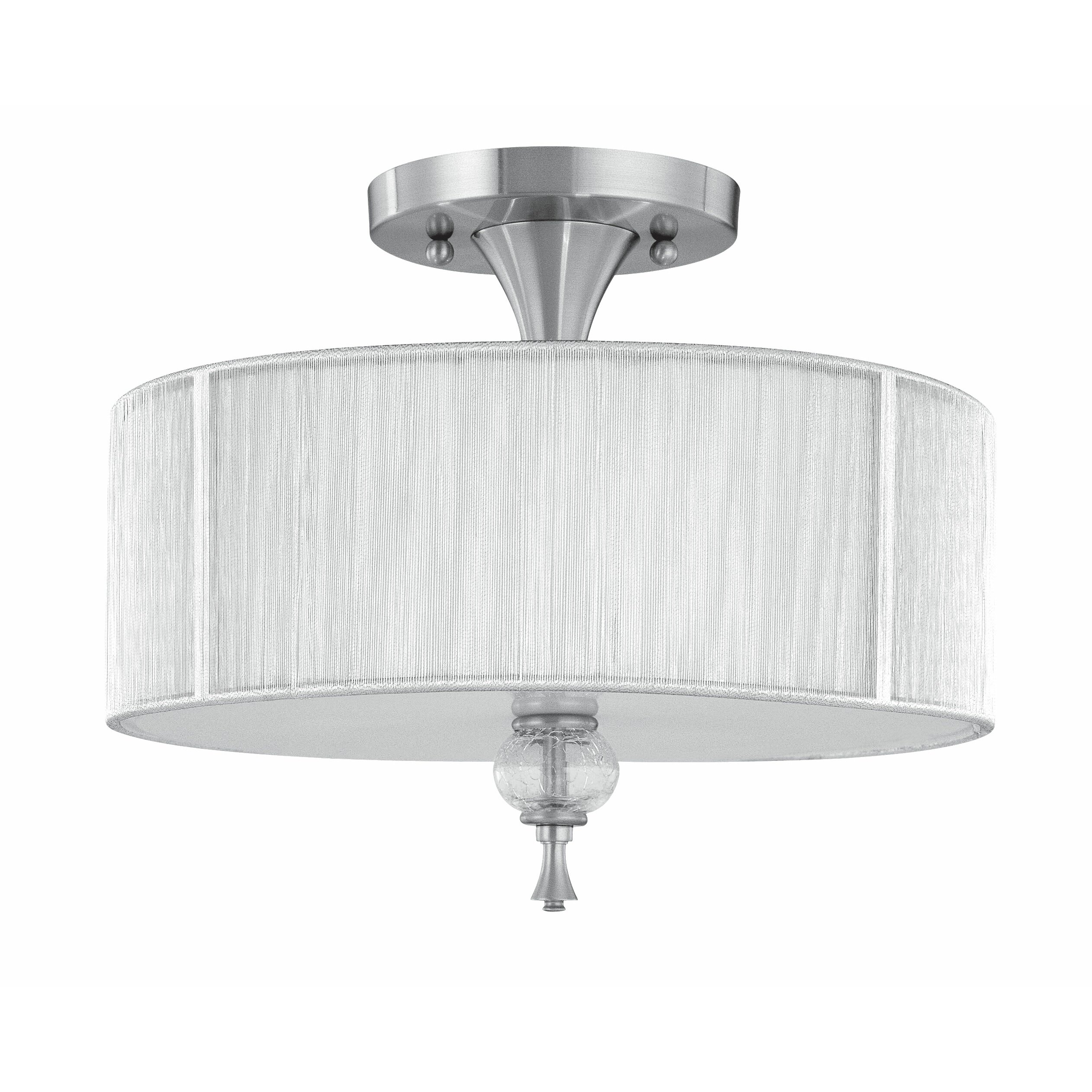 World imports lighting uptown contemporary 3 light semi for Semi flush mount lighting modern