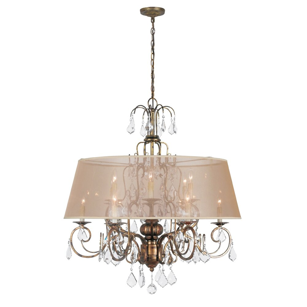 World imports lighting belle marie 12 light crystal chandelier wayfair - Lights and chandeliers ...
