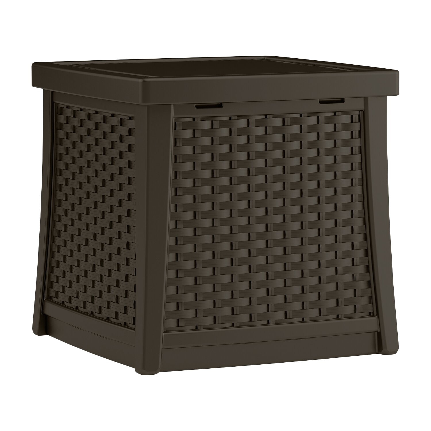 Suncast Elements Coffee Table With Storage Java: Suncast Cube 13 Gallon Resin Deck Side Table With Storage