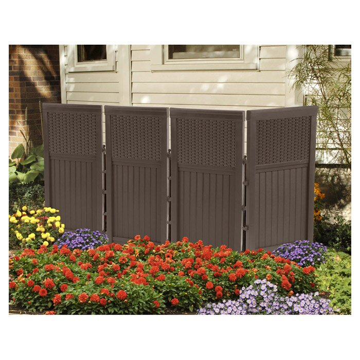 Suncast 4 Panel Resin Outdoor Screen In Java Amp Reviews