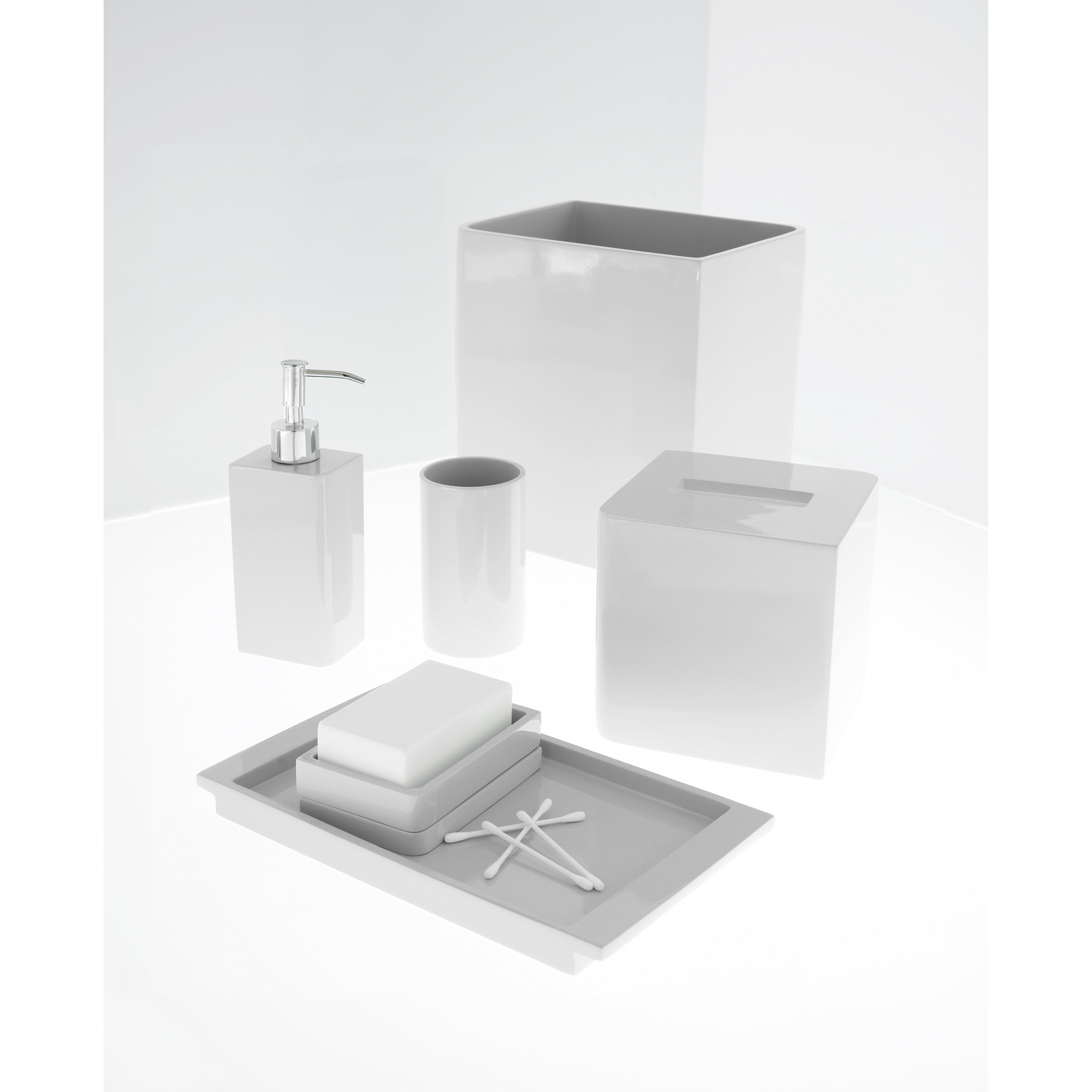 Kassatex lacca bath accessories waste basket reviews for Basket bathroom accessories
