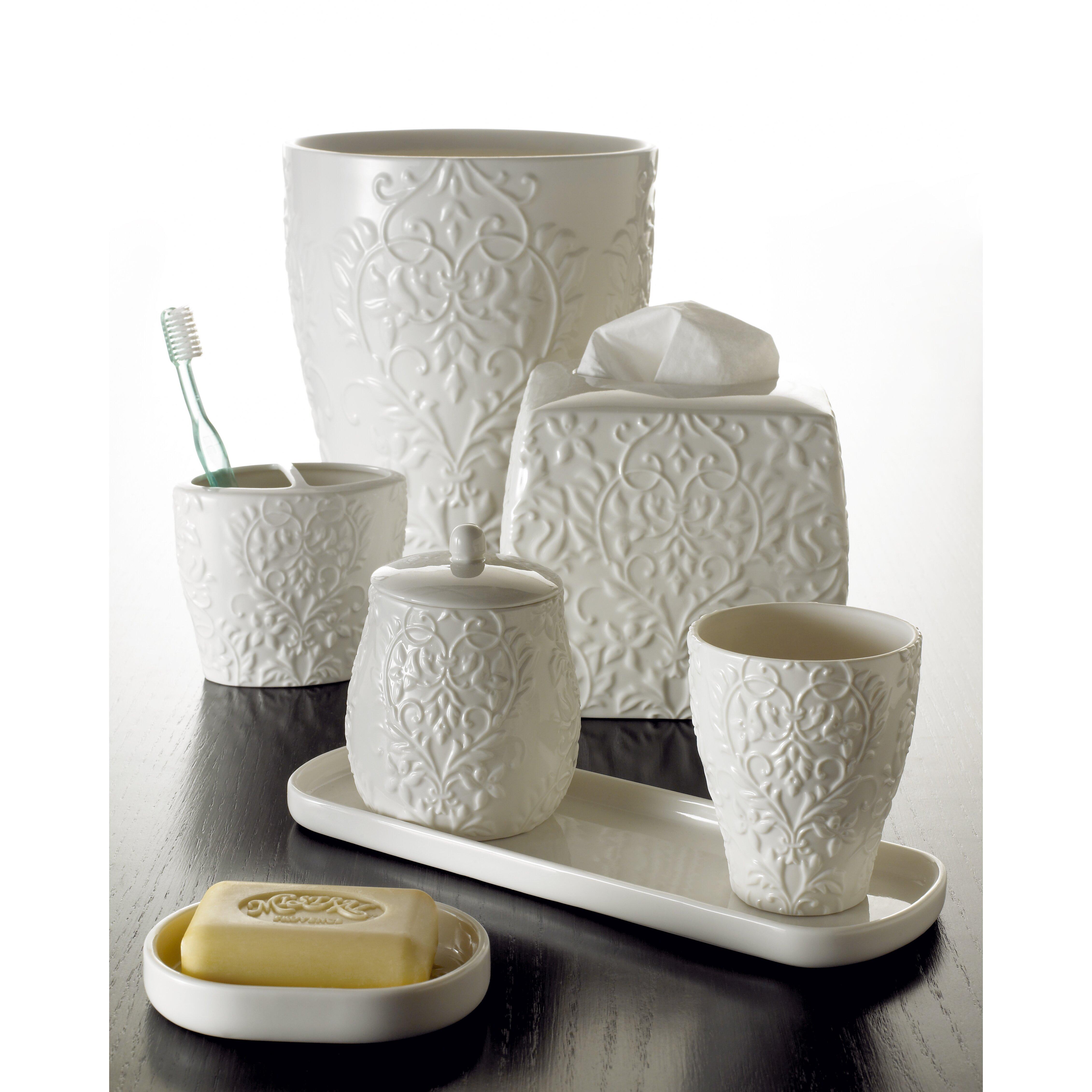 Kassatex parisian collection bath accessories tissue for Bath accessories holder