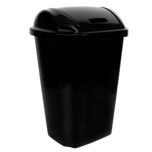 Hefty 13 5 Gallon Swing Top Plastic Trash Can & Reviews