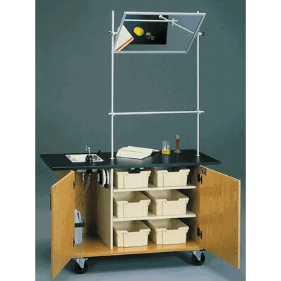 Dinner Table Overhead View : Fleetwood Mobile Science Demonstrator Table with Overhead Mirror and ...