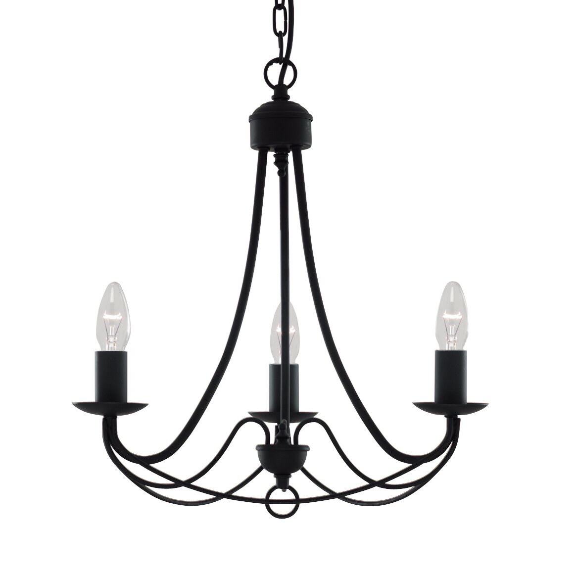 searchlight dolly 3 light chandelier reviews wayfair uk. Black Bedroom Furniture Sets. Home Design Ideas