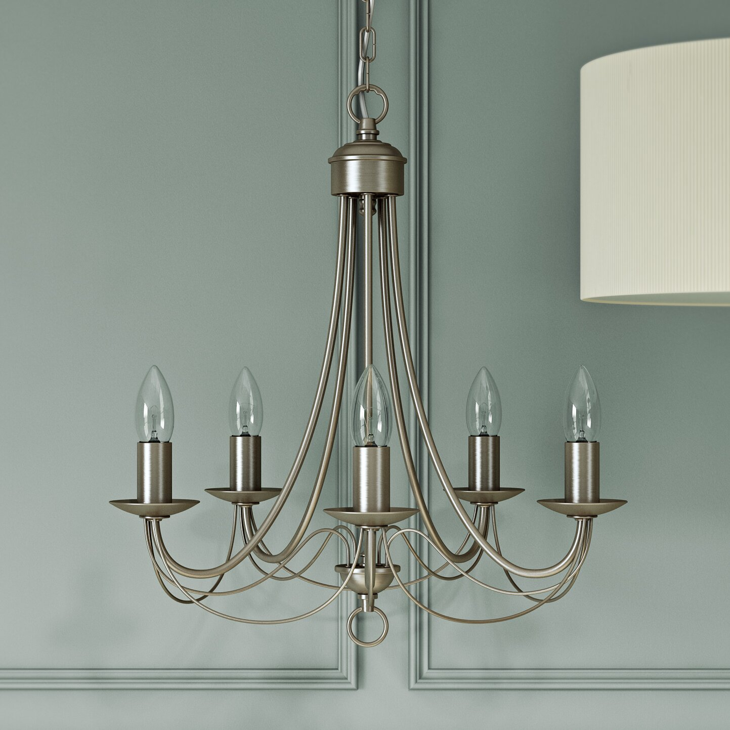 Wayfair Lights: Searchlight Maypole 5 Light Candle-Style Chandelier