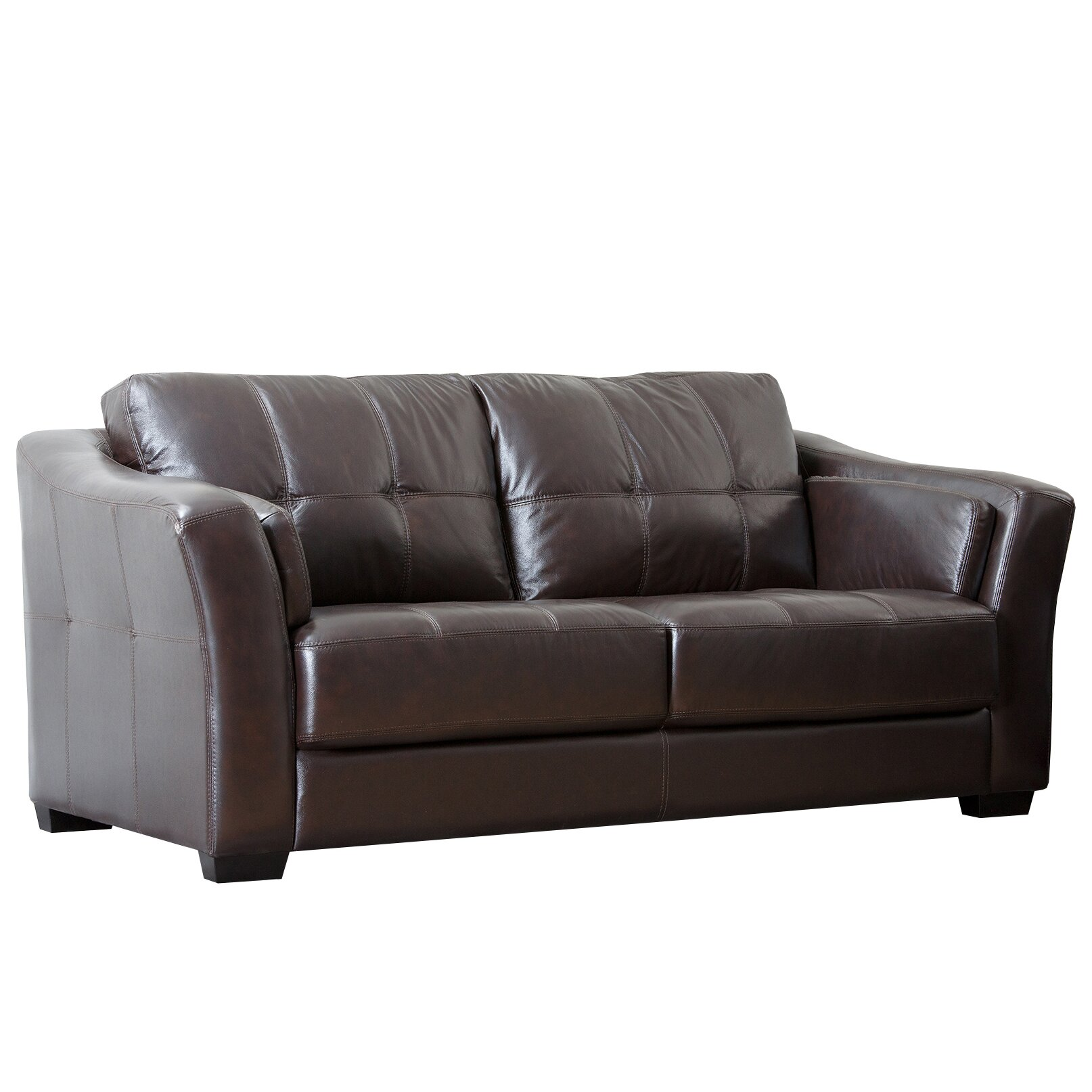 abbyson living sydney premium leather sofa reviews wayfair