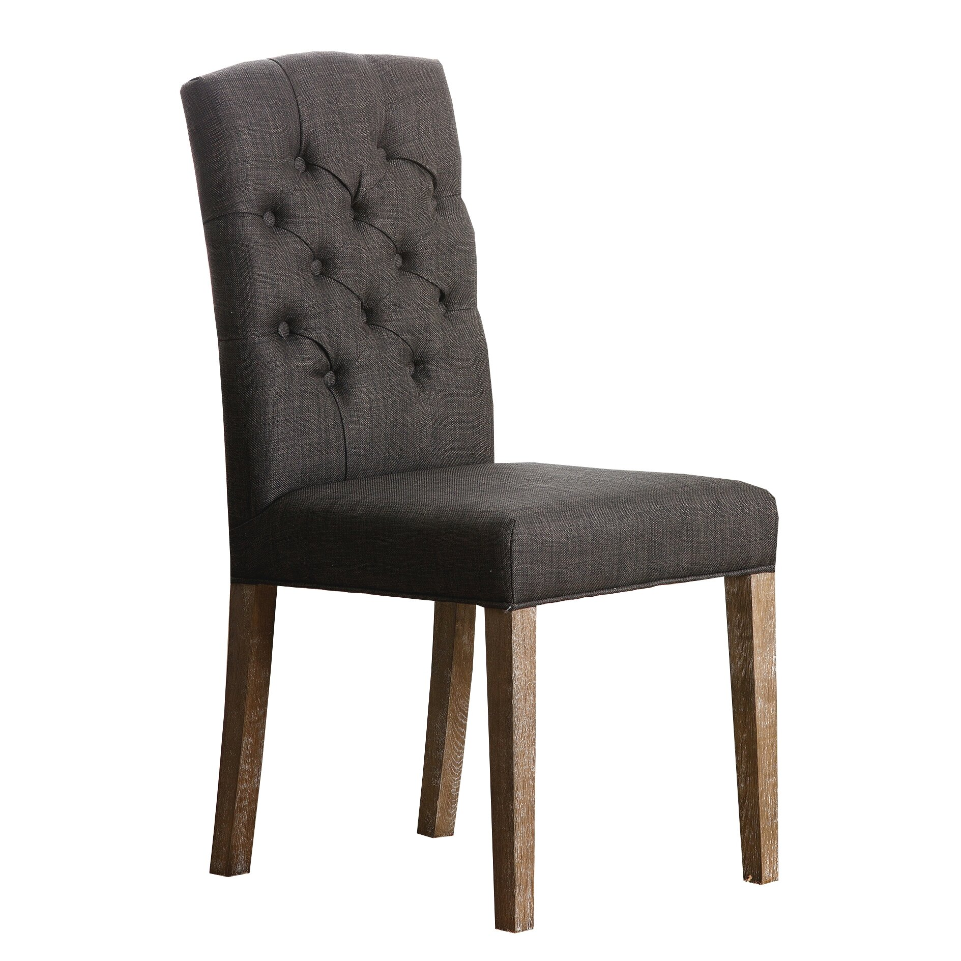 Abbyson Living Camille Linen Tufted Dining Chair In Wheat