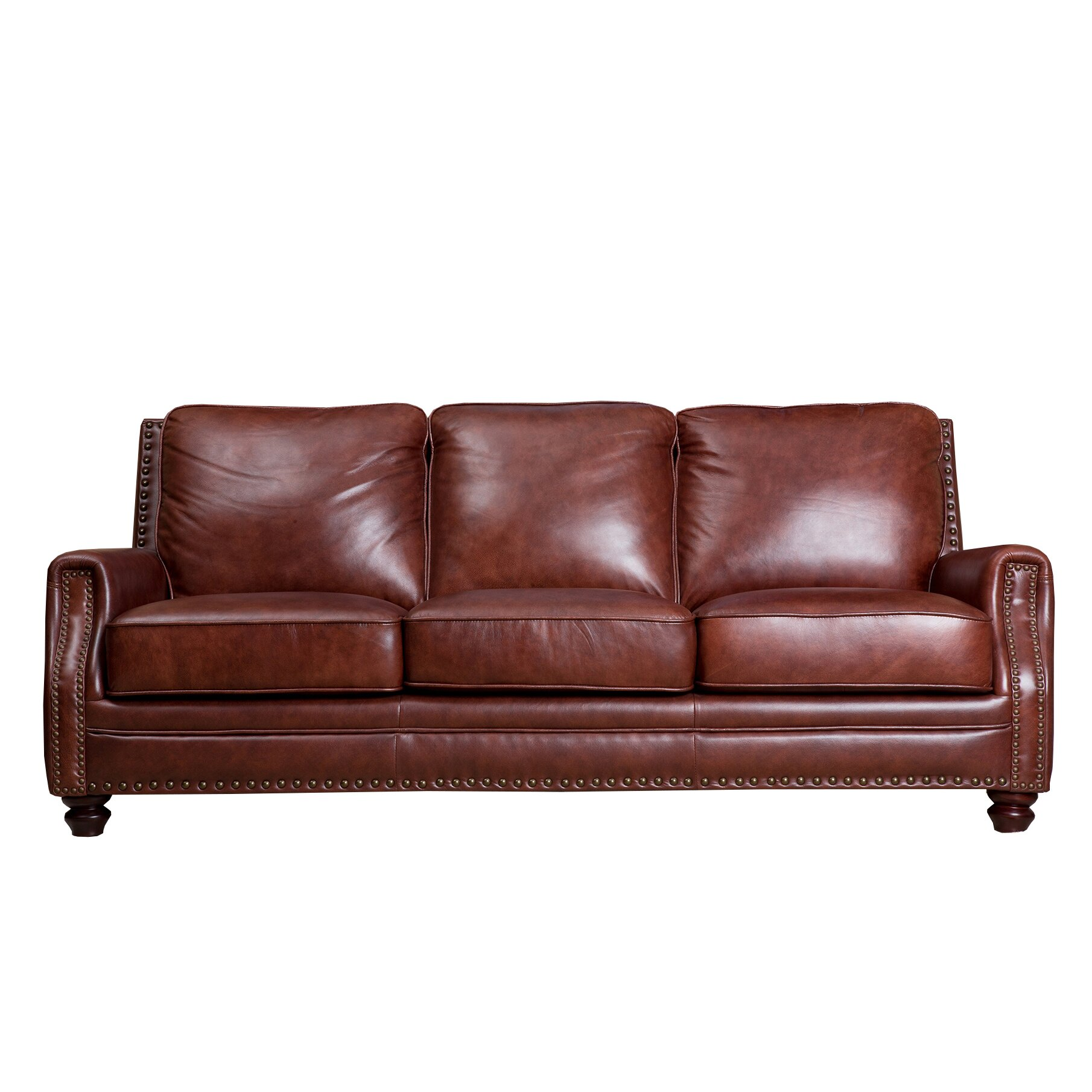 Abbyson Living Bel Air Leather Sofa Amp Reviews Wayfair