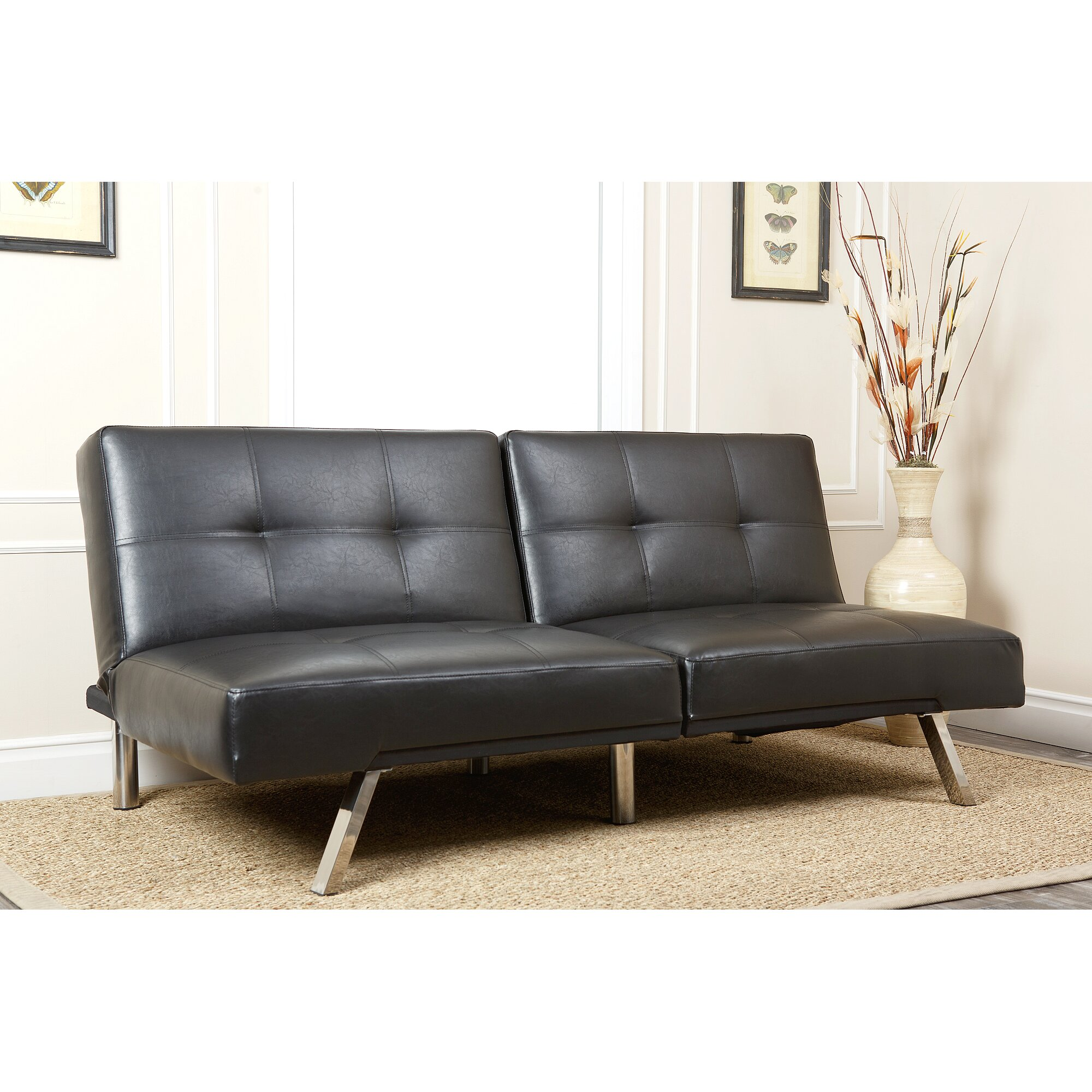 Convertible Ottoman Chair Costco: Abbyson Living Aspen Convertible Sleeper Sofa & Reviews