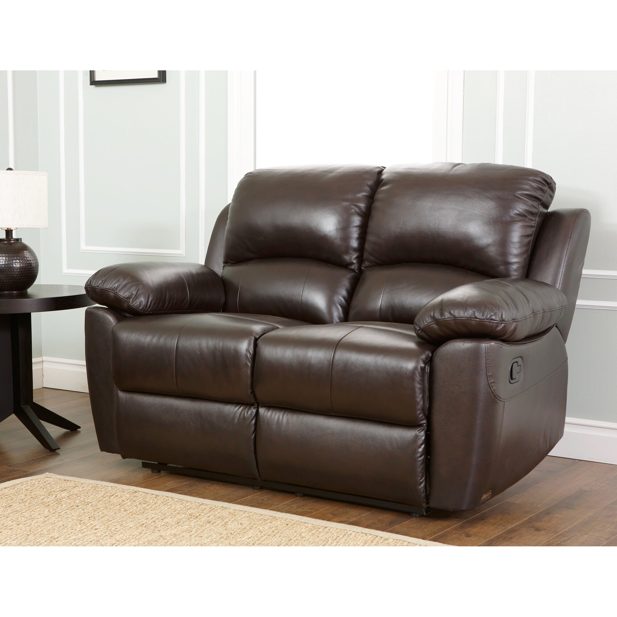 Abbyson Living Westwood Leather Reclining Loveseat Reviews Wayfair