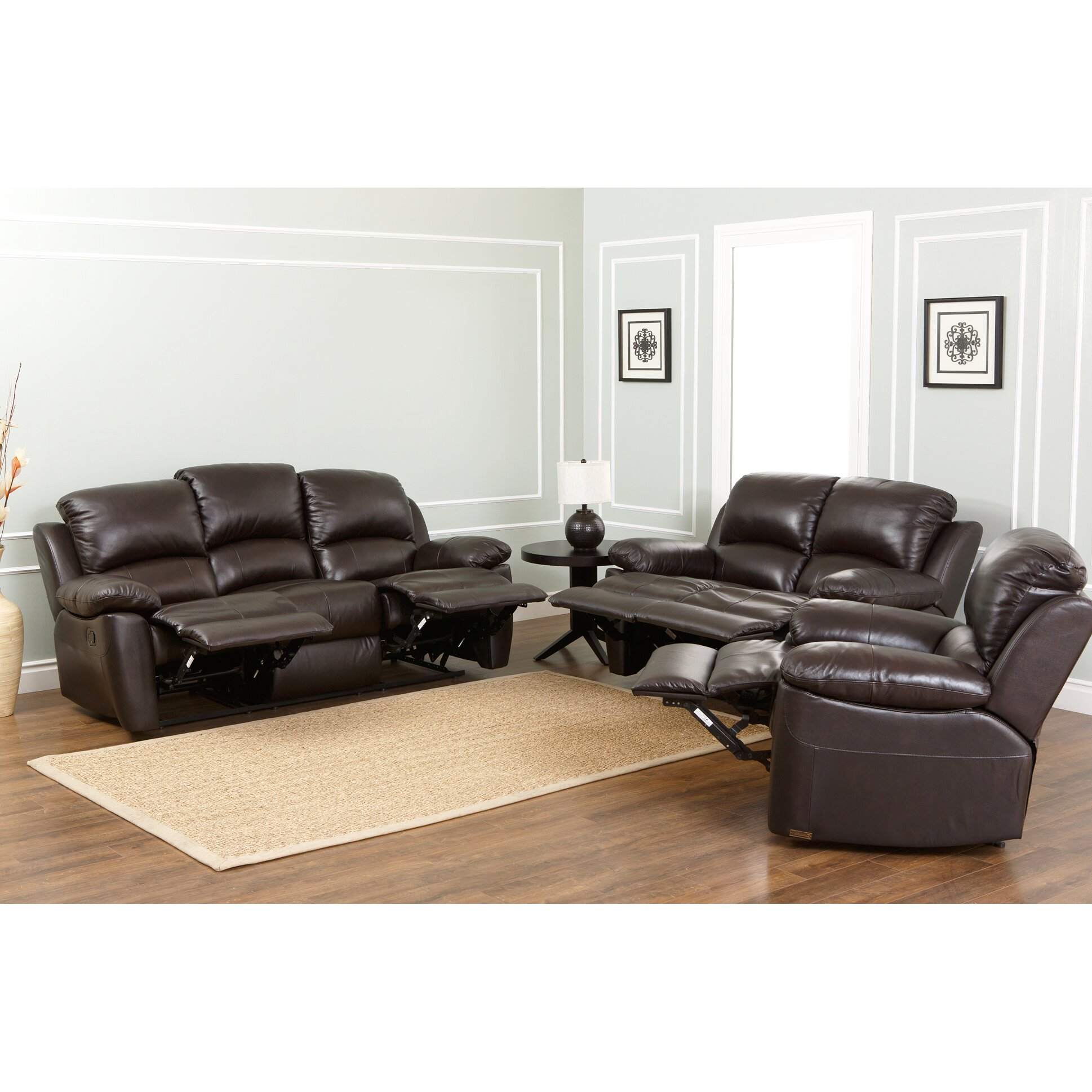 Abbyson Living Westwood Leather Reclining Sofa Reviews Wayfair