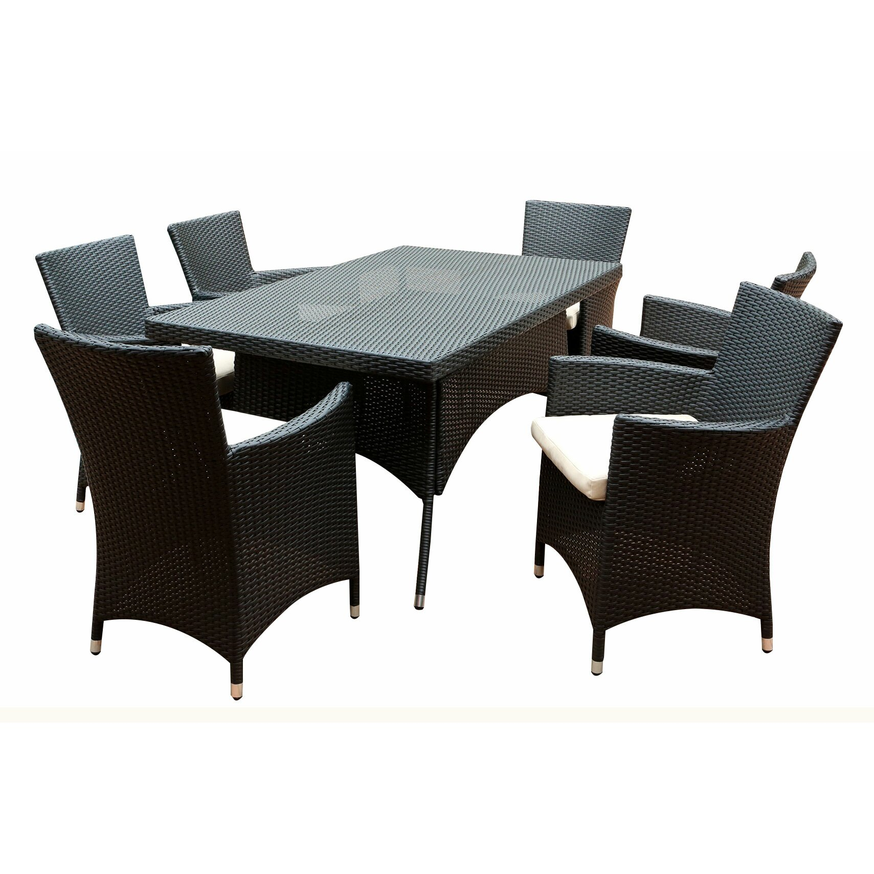 Abbyson living pasadena 7 piece dining set reviews wayfair for 7 piece dining set