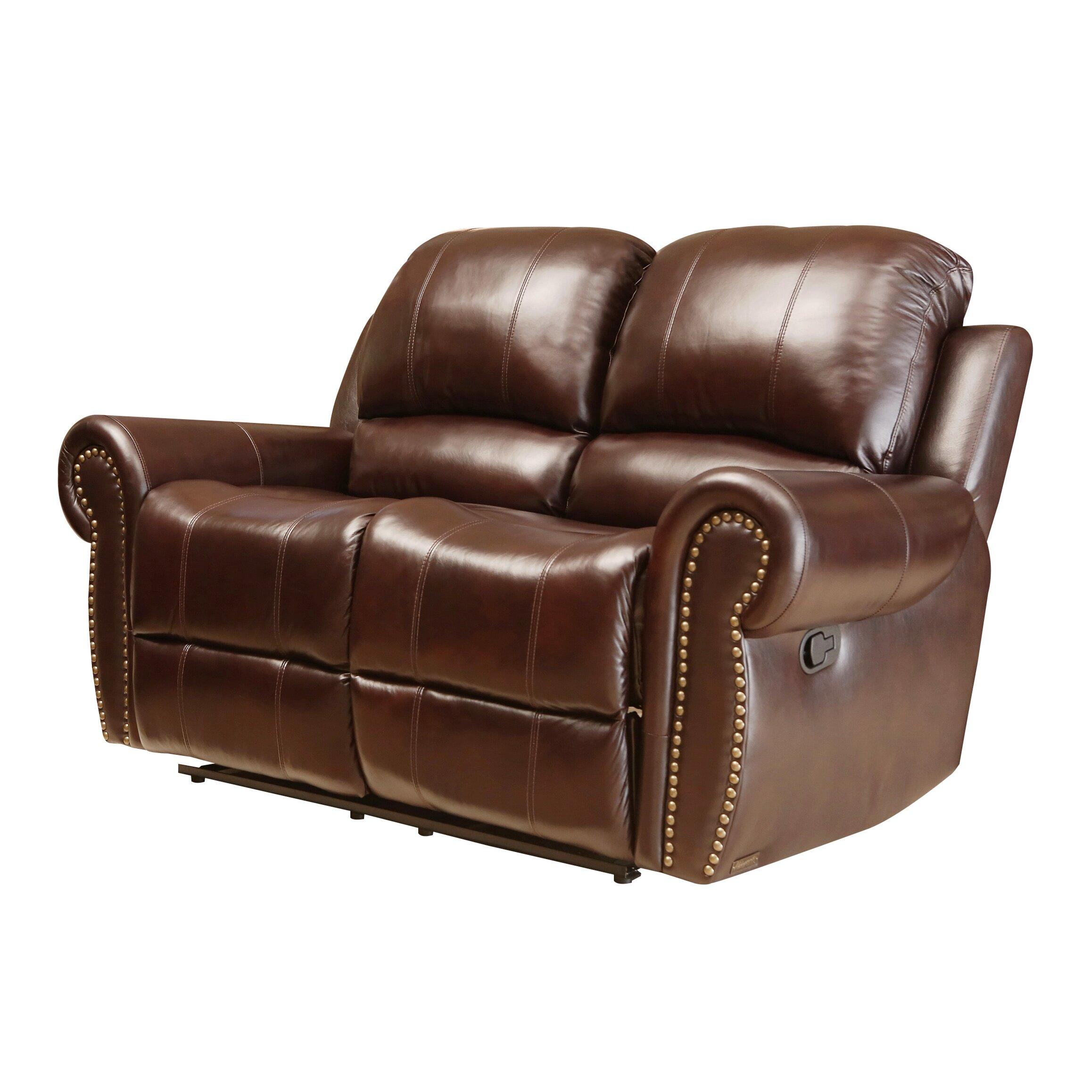 Abbyson Living Sedona Leather Reclining Loveseat Reviews Wayfair