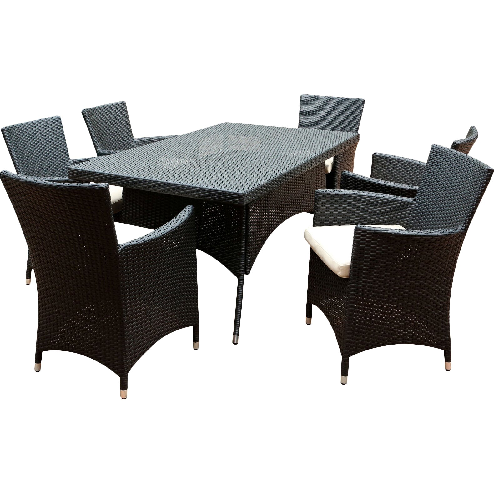 Abbyson Living Pasadena 7 Piece Dining Set Reviews Wayfair