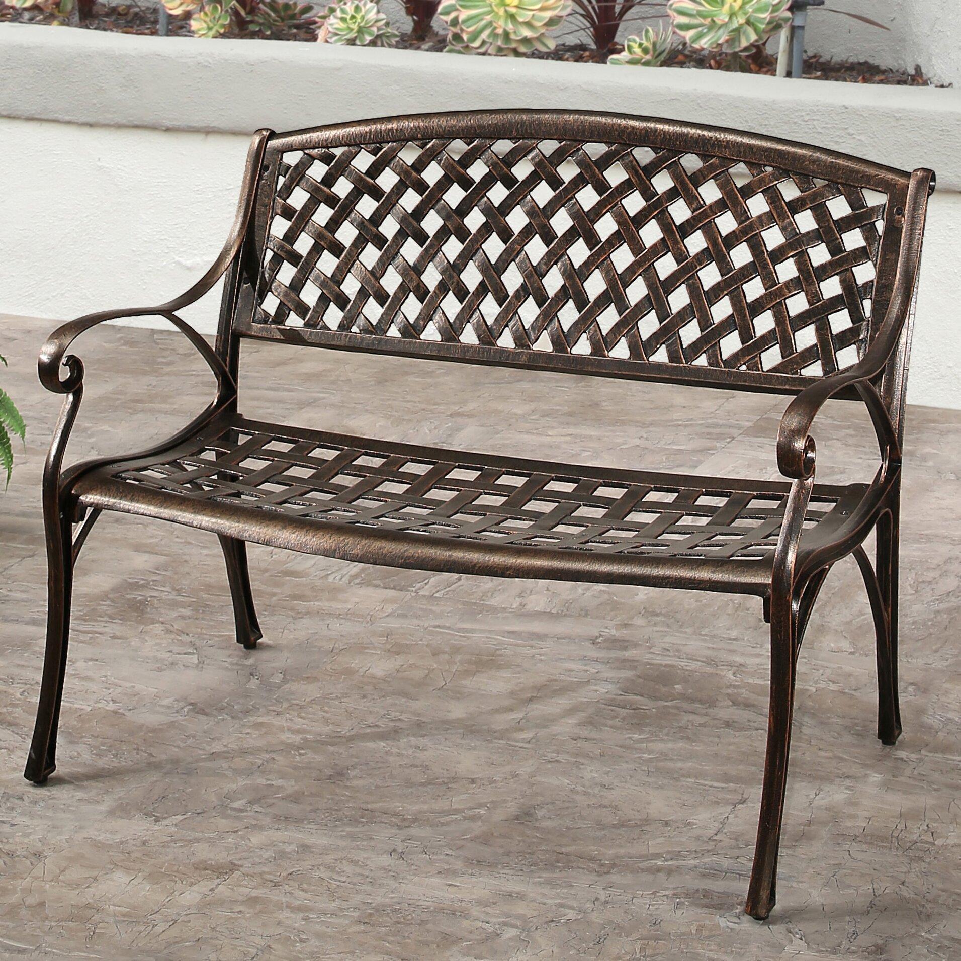 Three Posts Broadview Cast Aluminum Garden Bench Wayfair