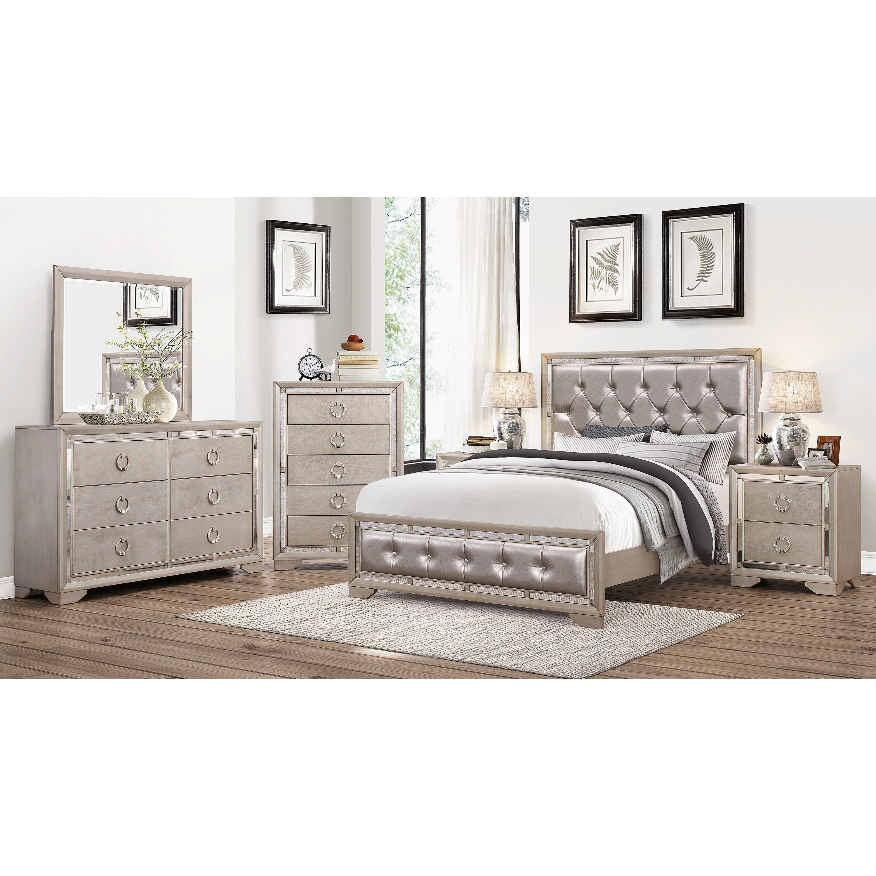 House Of Hampton June Panel 6 Piece Bedroom Set Wayfair