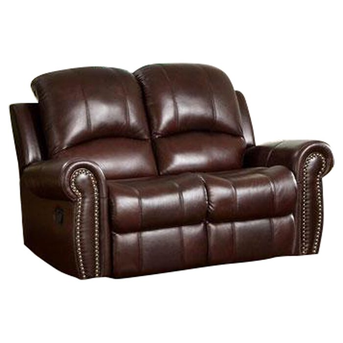 abbyson living sedona leather reclining loveseat reviews