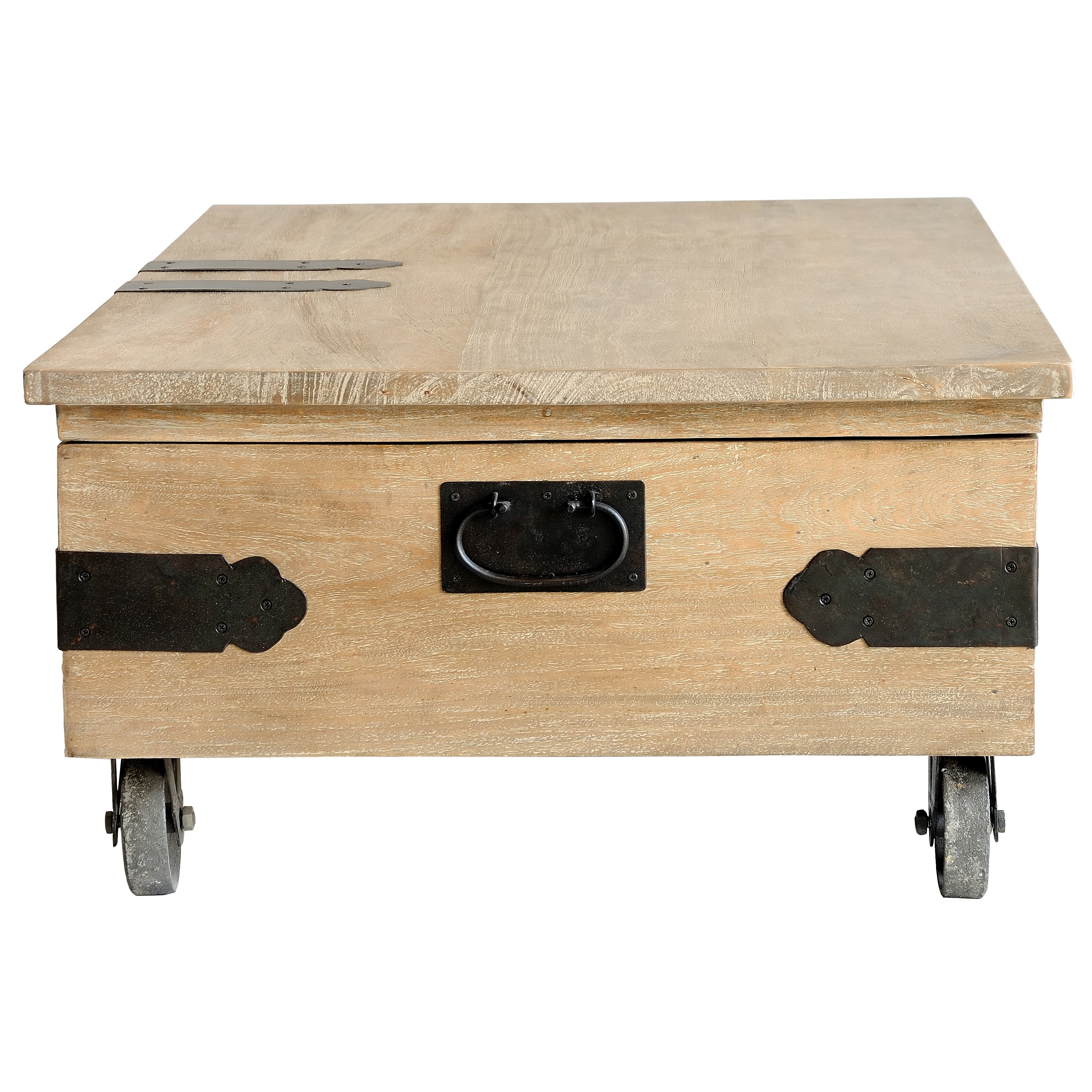 casual elements utility trunk coffee table with lift top reviews wayfair. Black Bedroom Furniture Sets. Home Design Ideas
