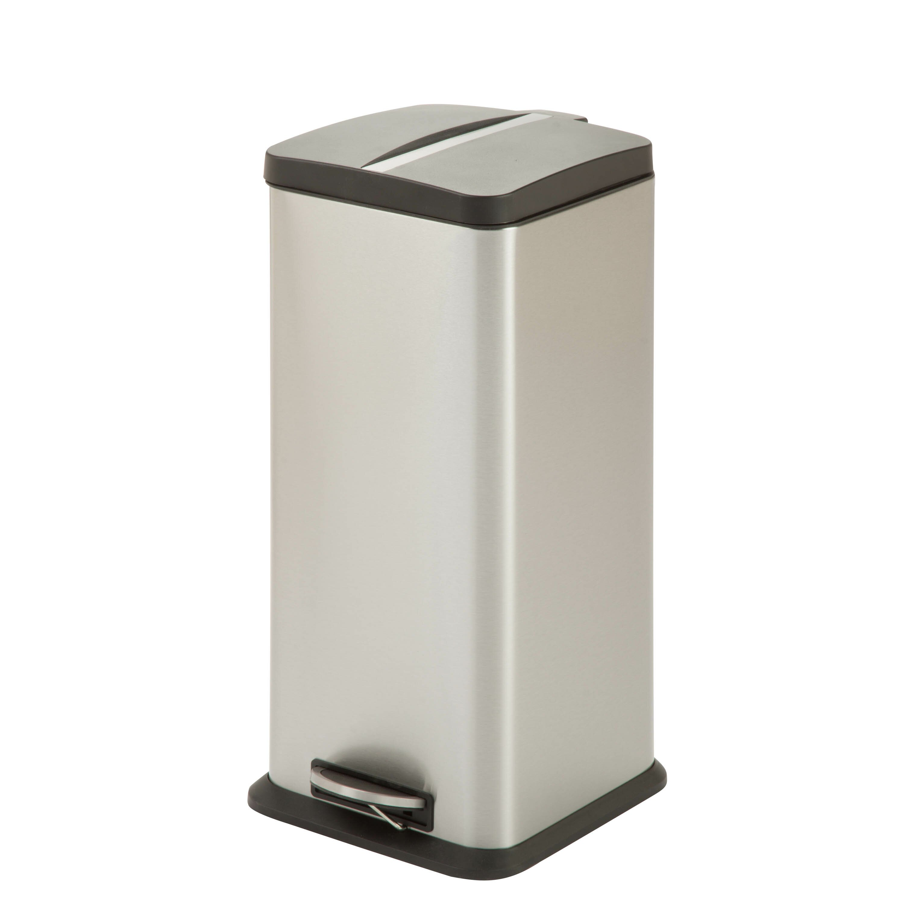 honey can do 7 9 gallon step on stainless steel trash can reviews. Black Bedroom Furniture Sets. Home Design Ideas