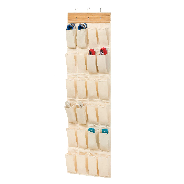 Honey can do 24 pocket overdoor shoe organizer reviews for 12 pocket over the door shoe organizer